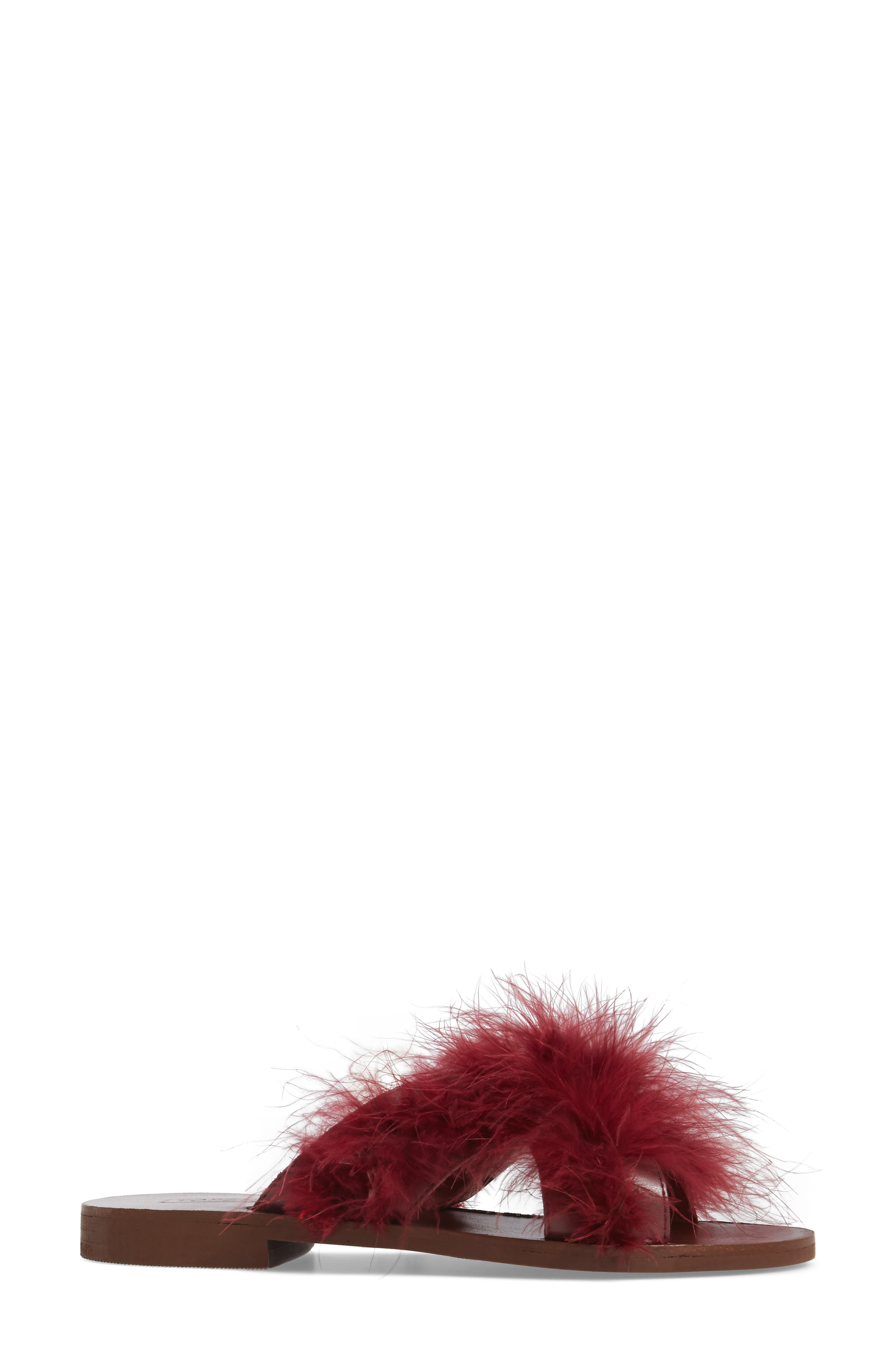 Alternate Image 3  - Topshop Fenella Feathered Sandal (Women)