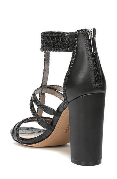 Sam Edelman Yordana Woven T Strap Sandal Black Weave