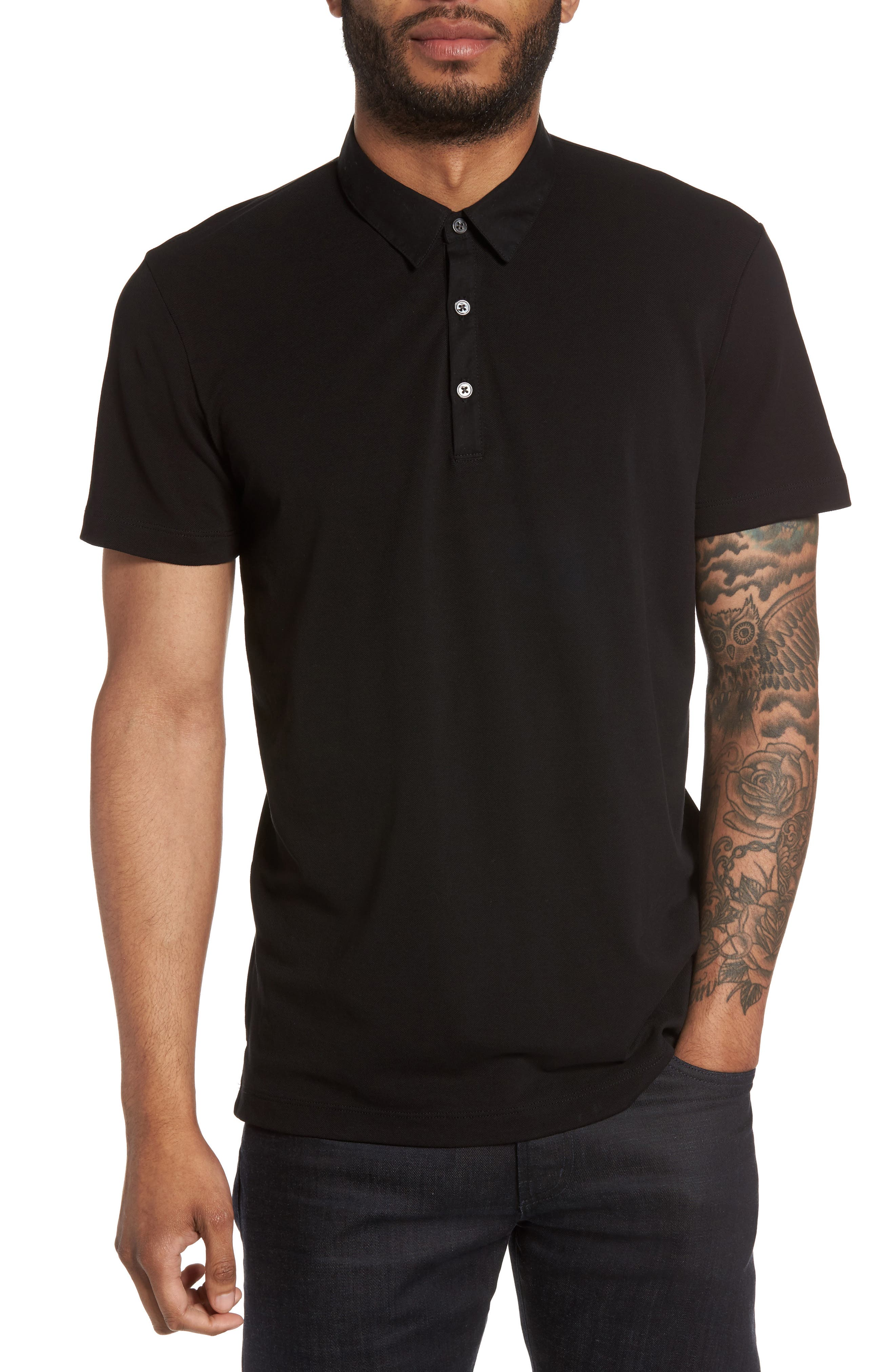 Theory Bound Placket Air Piqué Polo