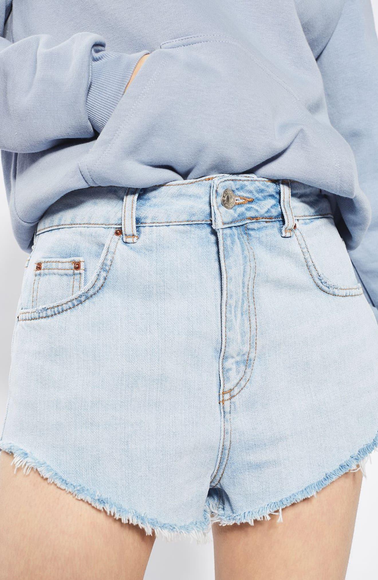 Alternate Image 5  - Topshop Kiri Cutoff Denim Shorts
