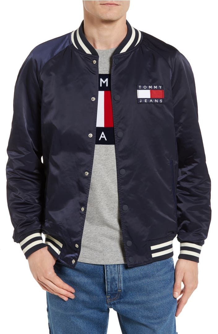 tommy hilfiger tjm satin bomber jacket nordstrom. Black Bedroom Furniture Sets. Home Design Ideas