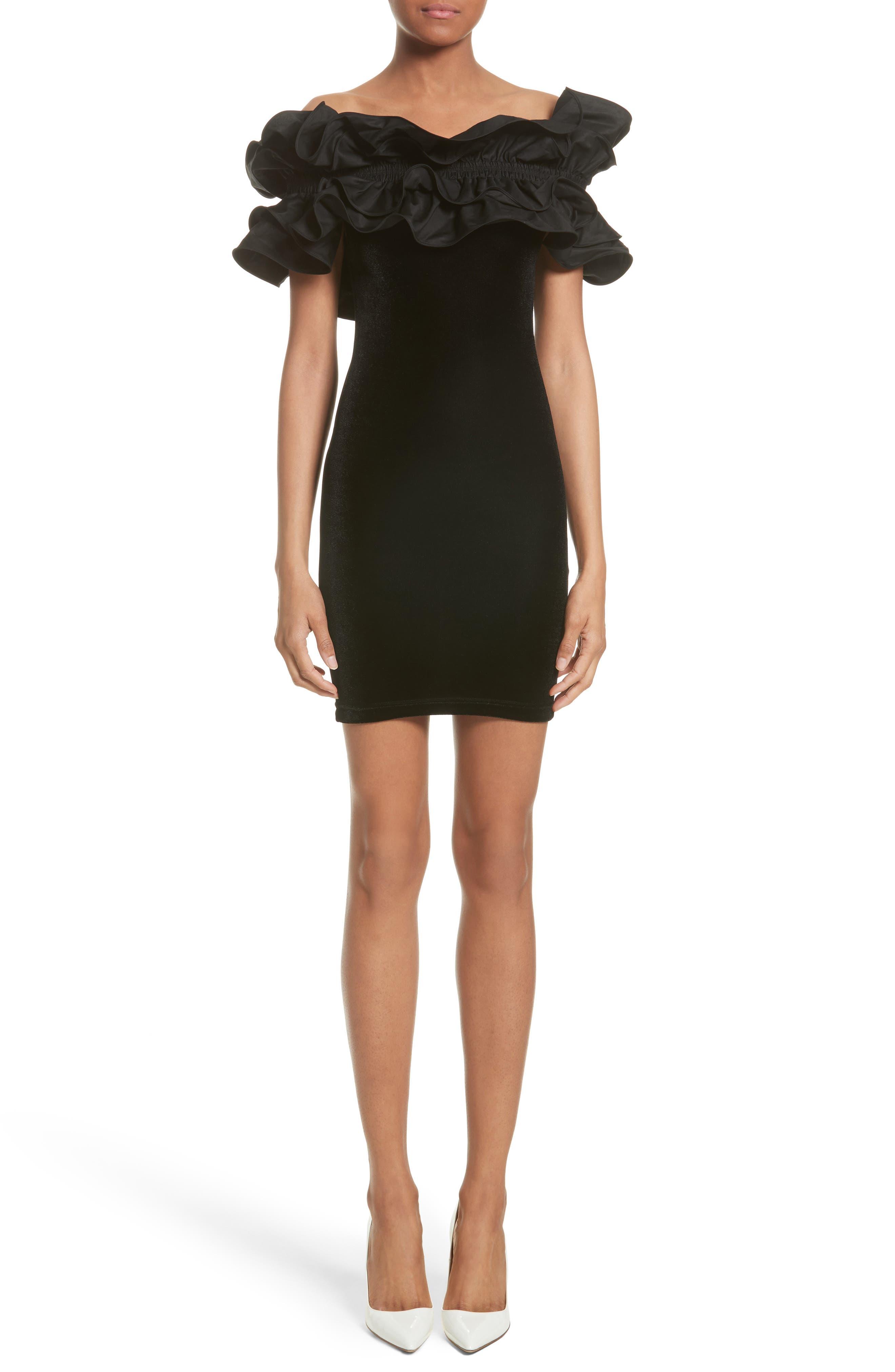 Y/PROJECT Velvet Ruffle Dress
