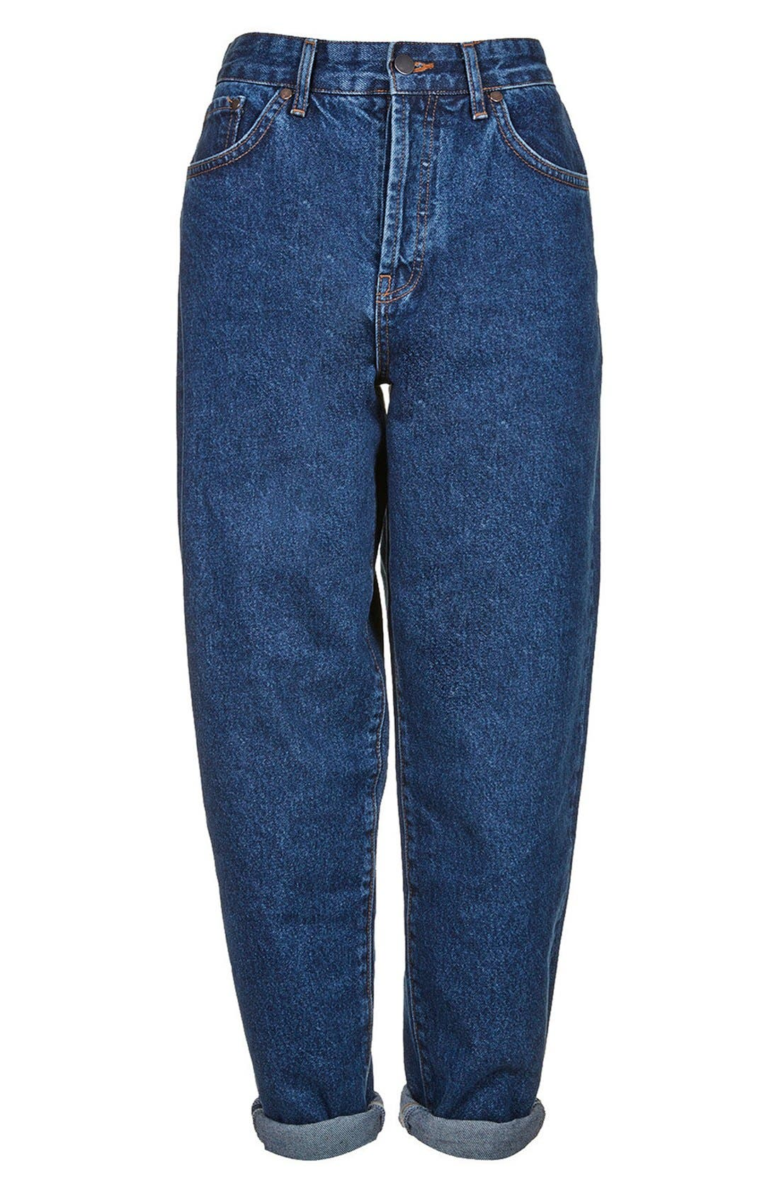Alternate Image 3  - Topshop Boutique High Rise Slouchy Jeans (Mid Denim)