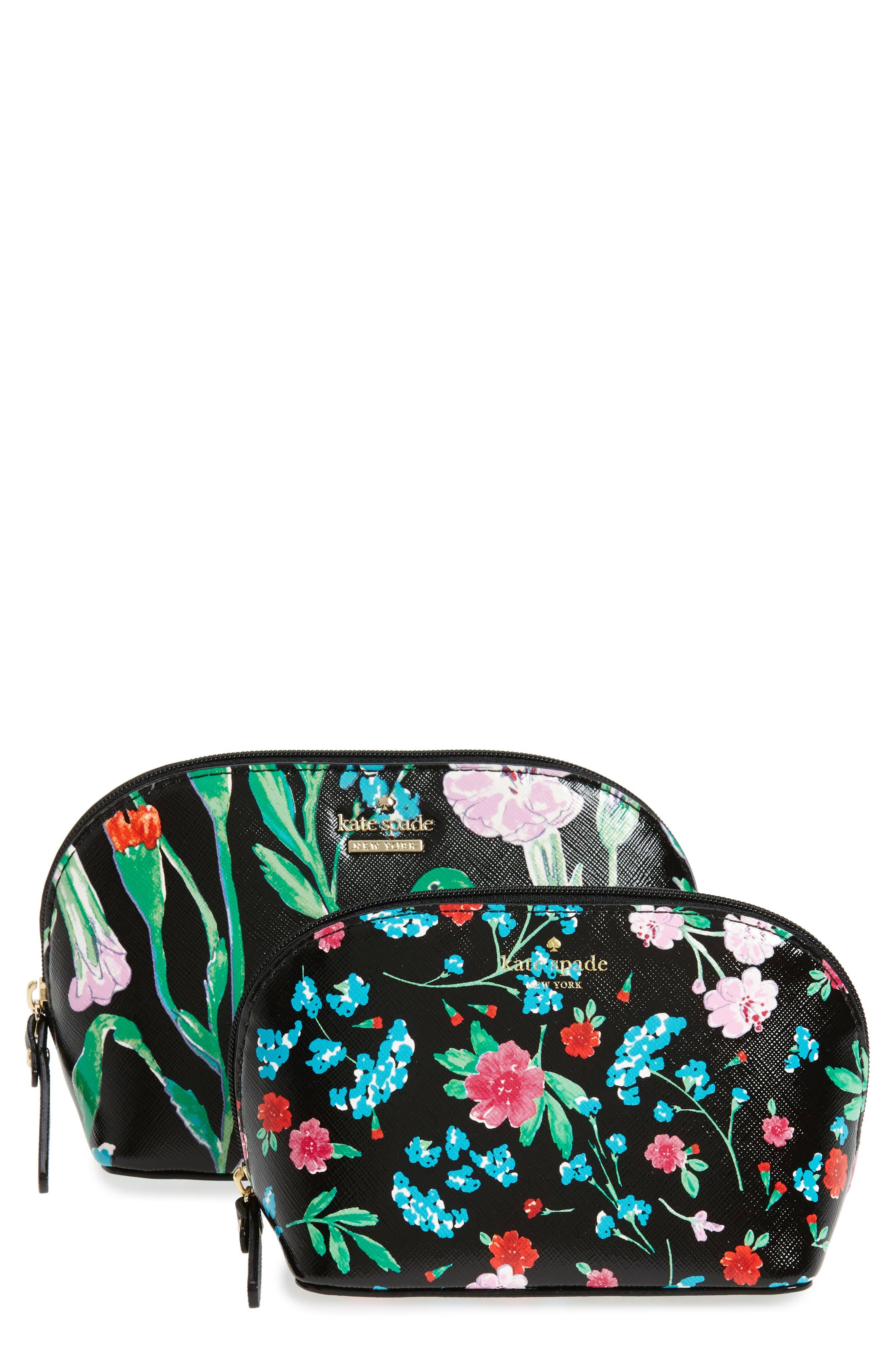 kate spade new york cameron st. jardin abalene set of 2 cosmetic cases
