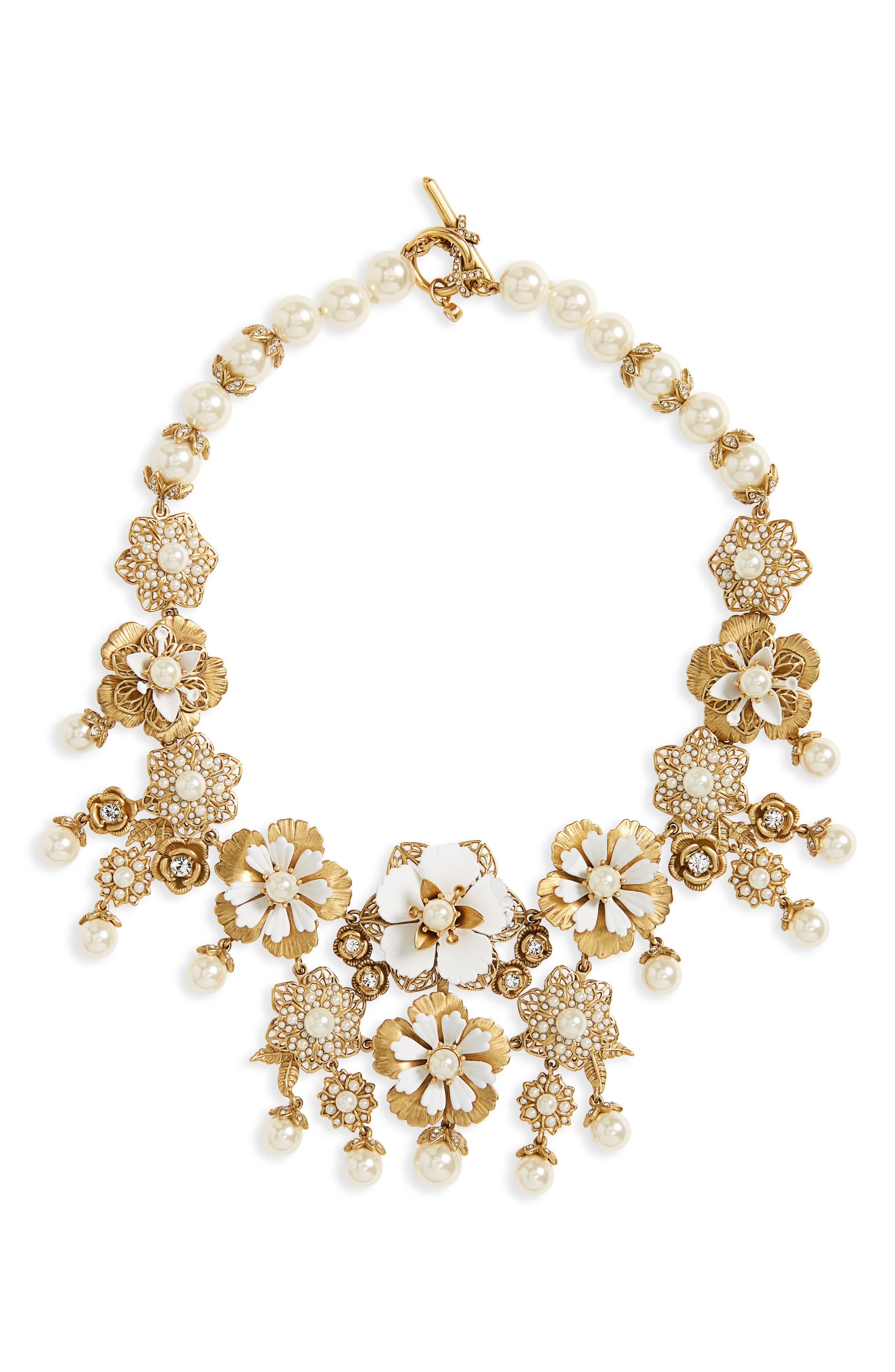 Alternate Image 1 Selected - Marchesa Pure Petals Drama Collar Necklace