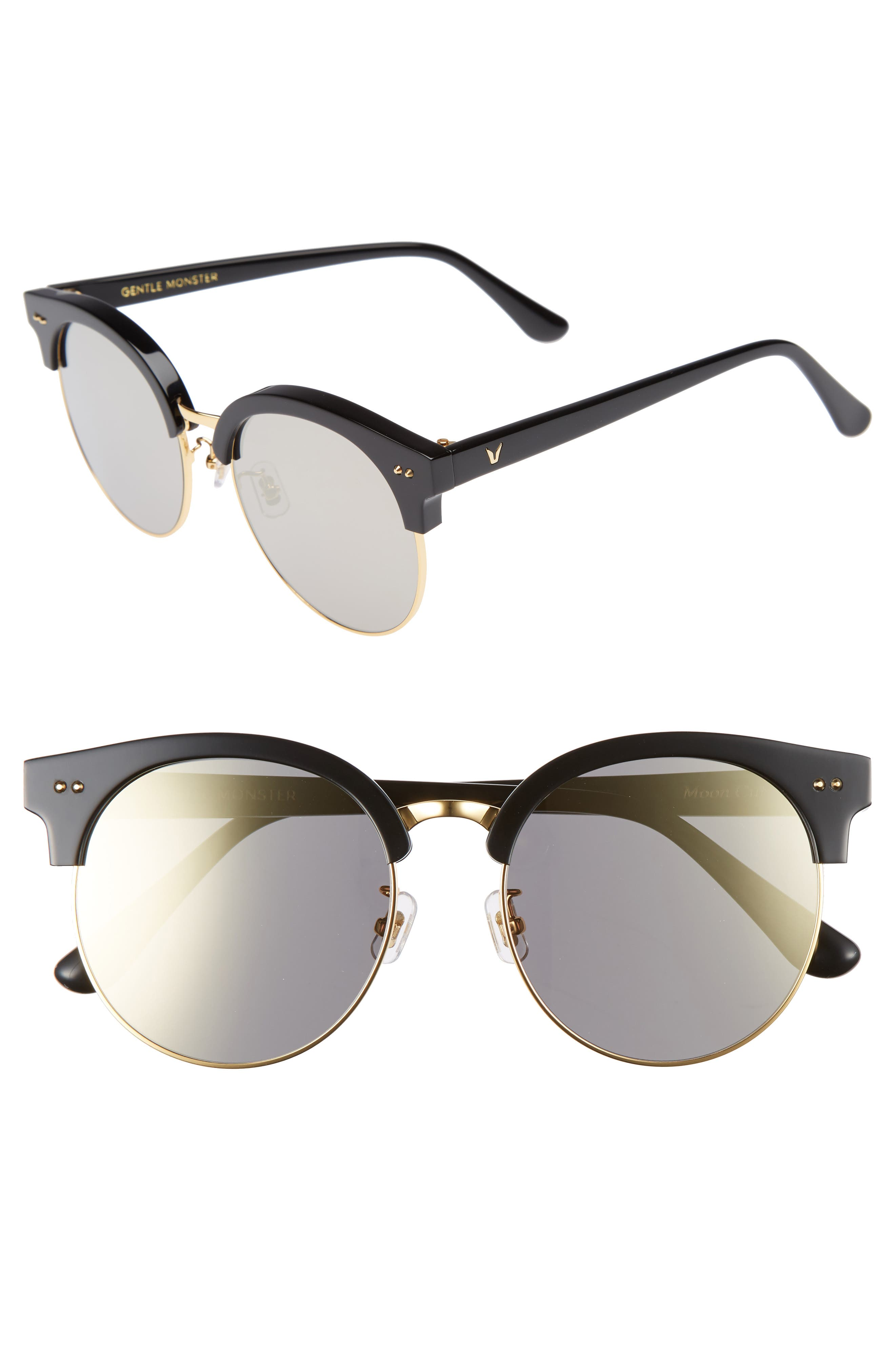 Alternate Image 1 Selected - Gentle Monster Moon Cut 54mm Rounded Sunglasses