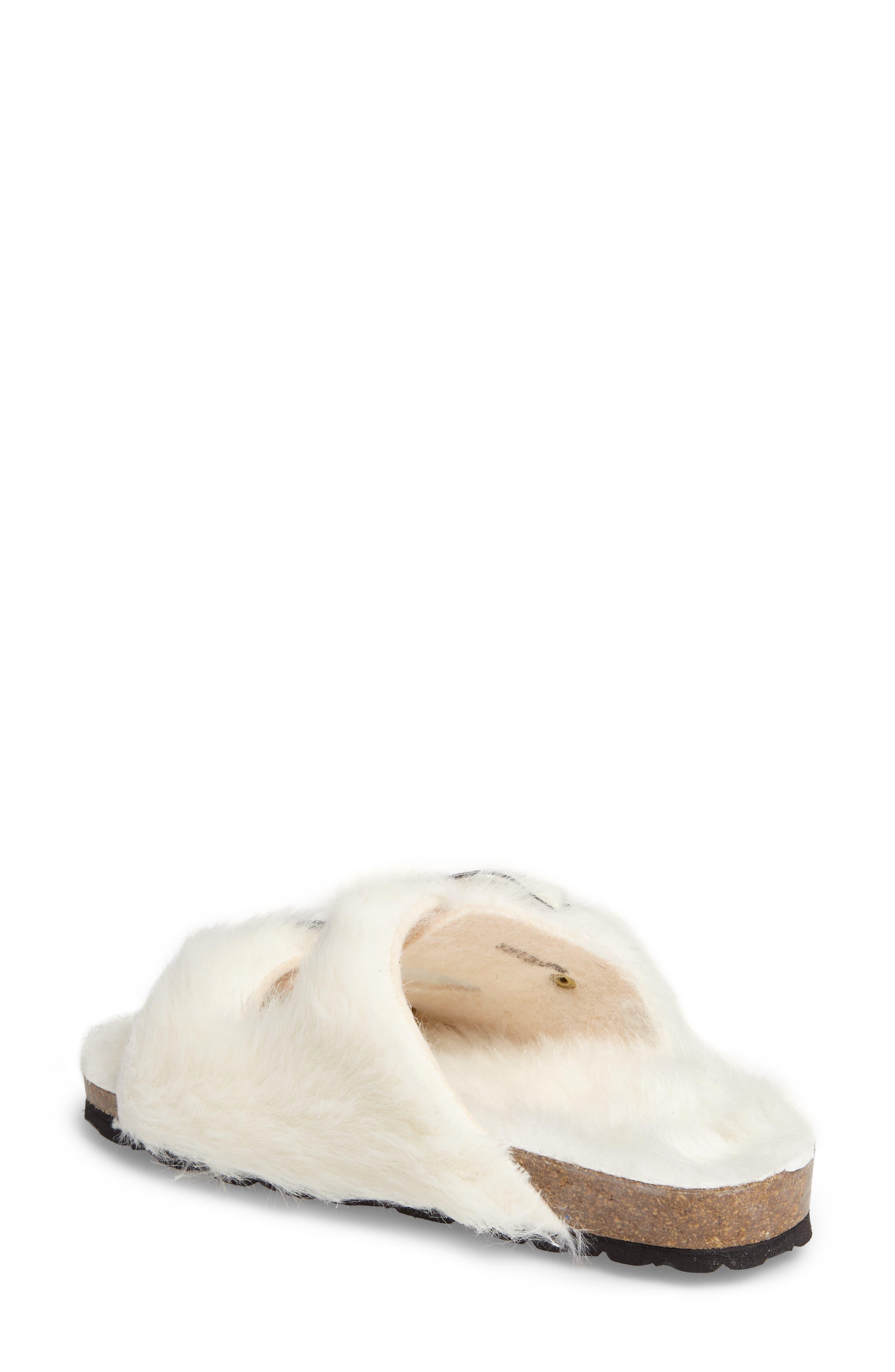 Alternate Image 2  - Topshop Falcon Faux Fur Slide Sandal (Women)