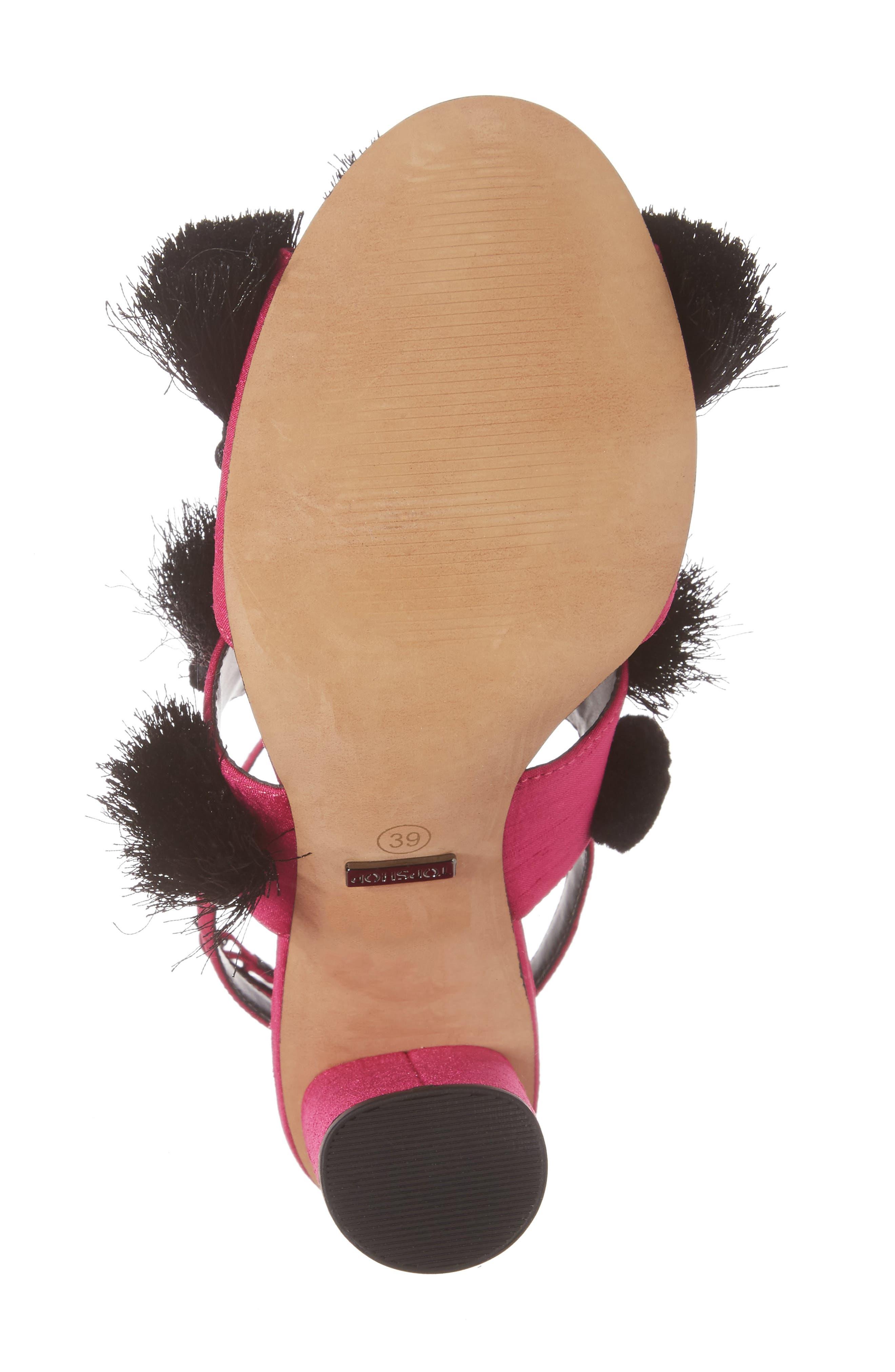 Alternate Image 6  - Topshop Rave Tasseled Pom Sandal (Women)