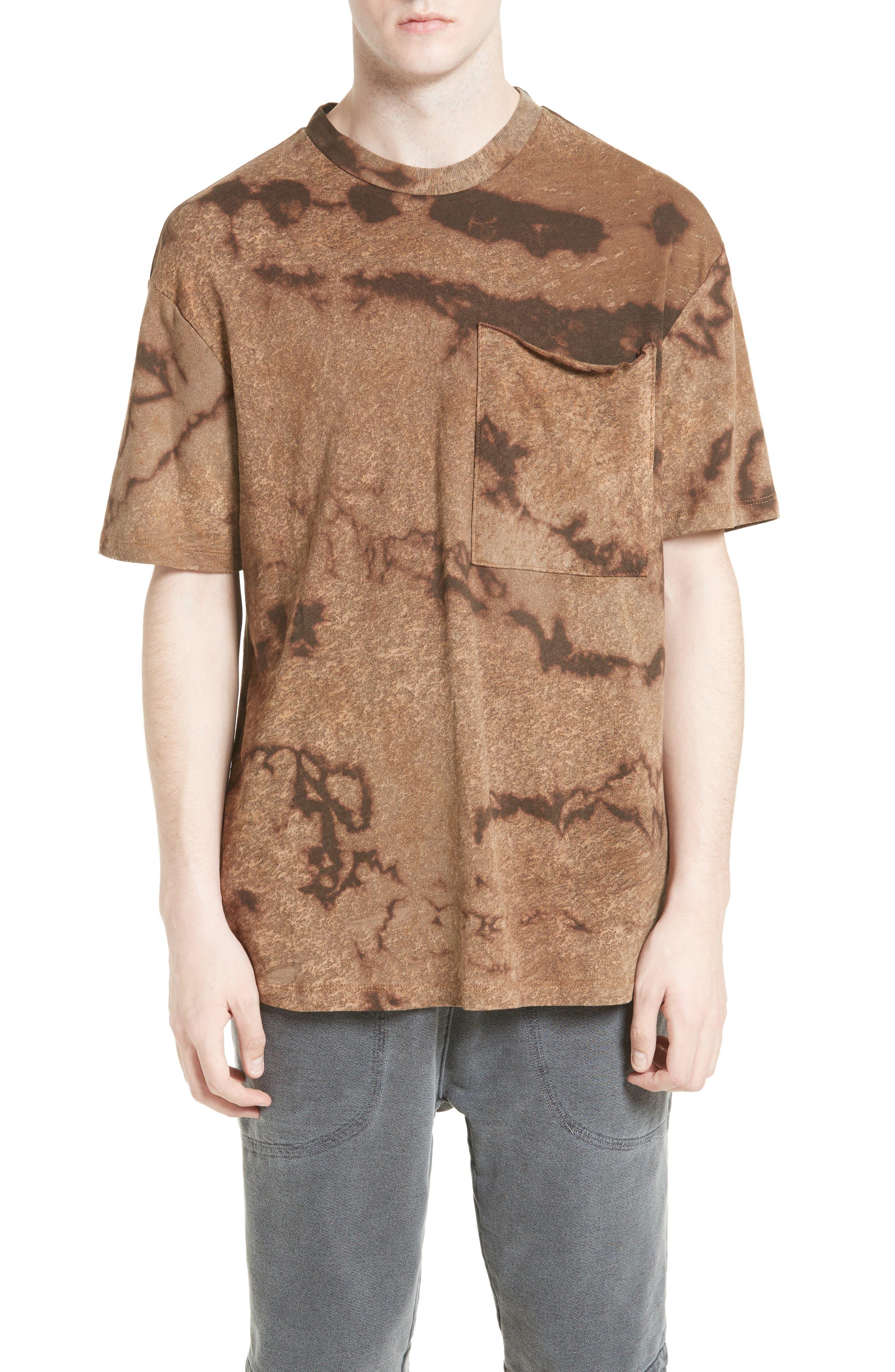 Drifter Granite Tie Dye Linen Blend T-Shirt