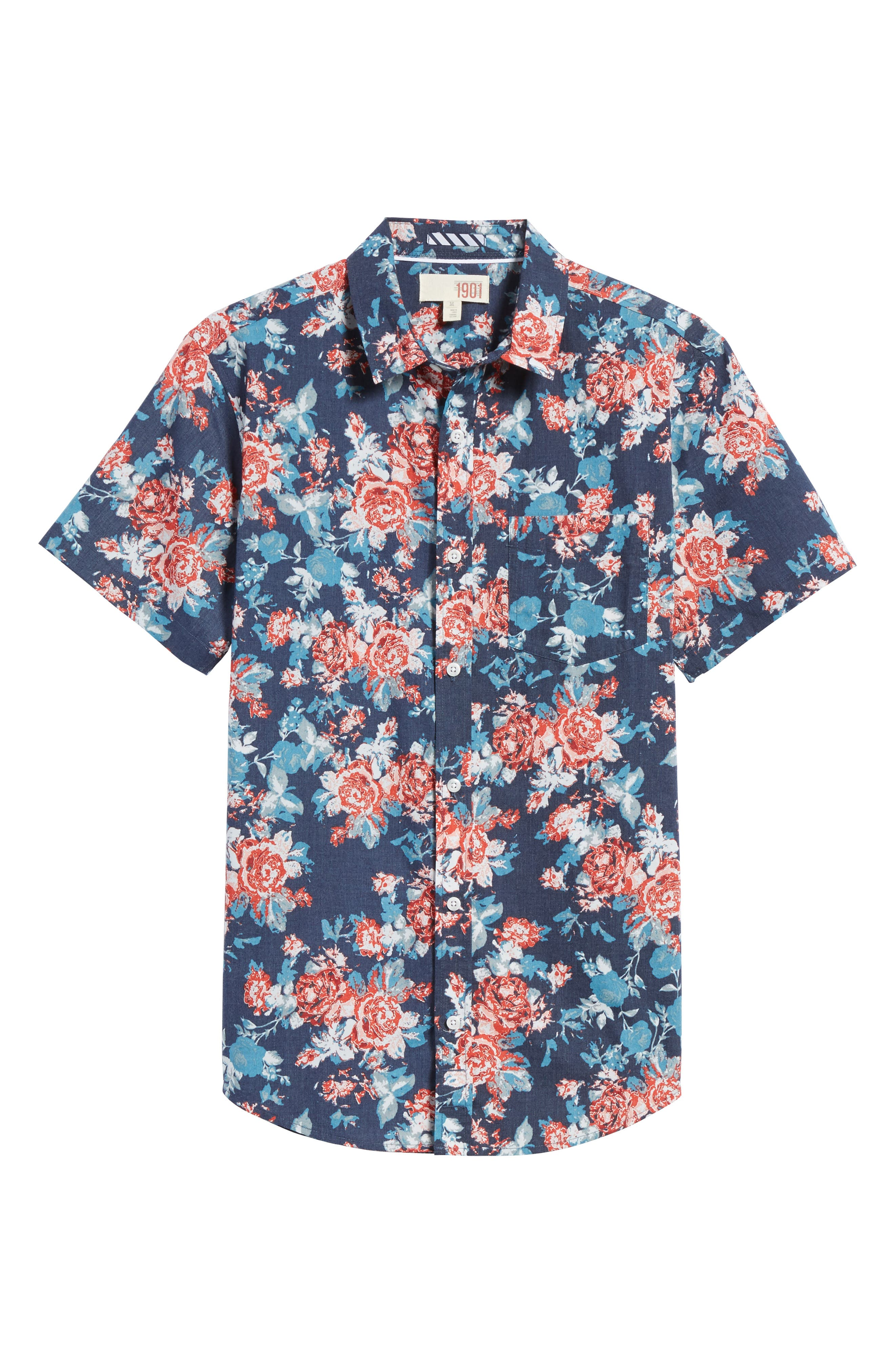 Alternate Image 6  - 1901 Wallpaper Floral Print Shirt