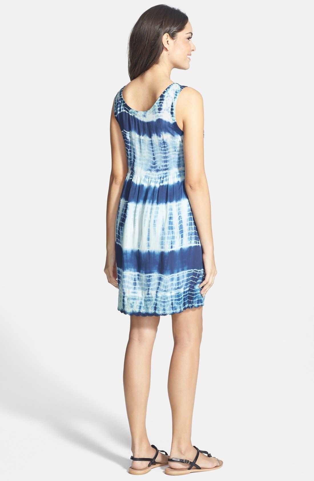 Alternate Image 2  - Volcom 'Freudian Slip' Tie Dye Babydoll Dress