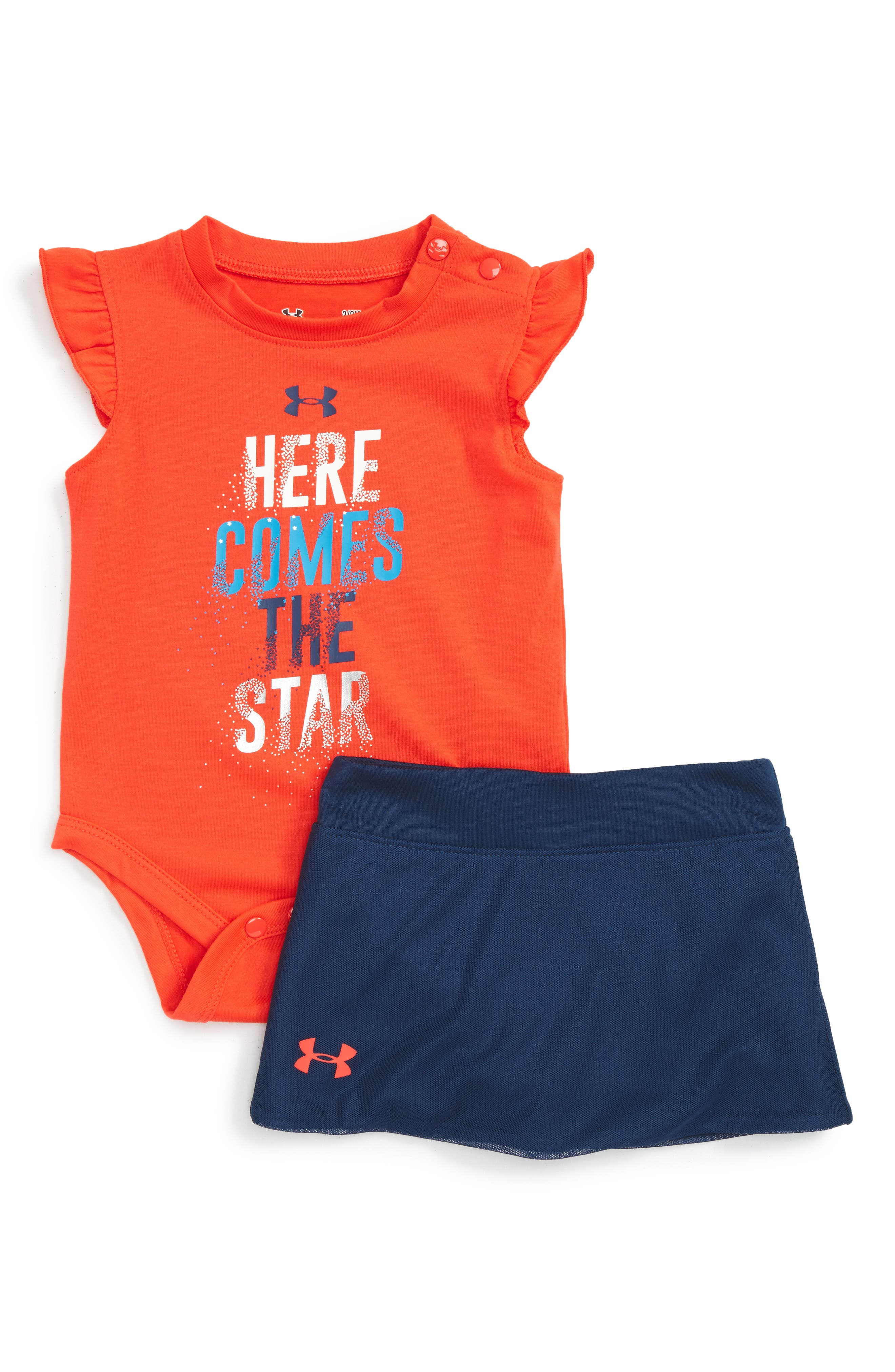 Under Armour Here Comes The Star Graphic Tee & Skort Set (Baby Girls)