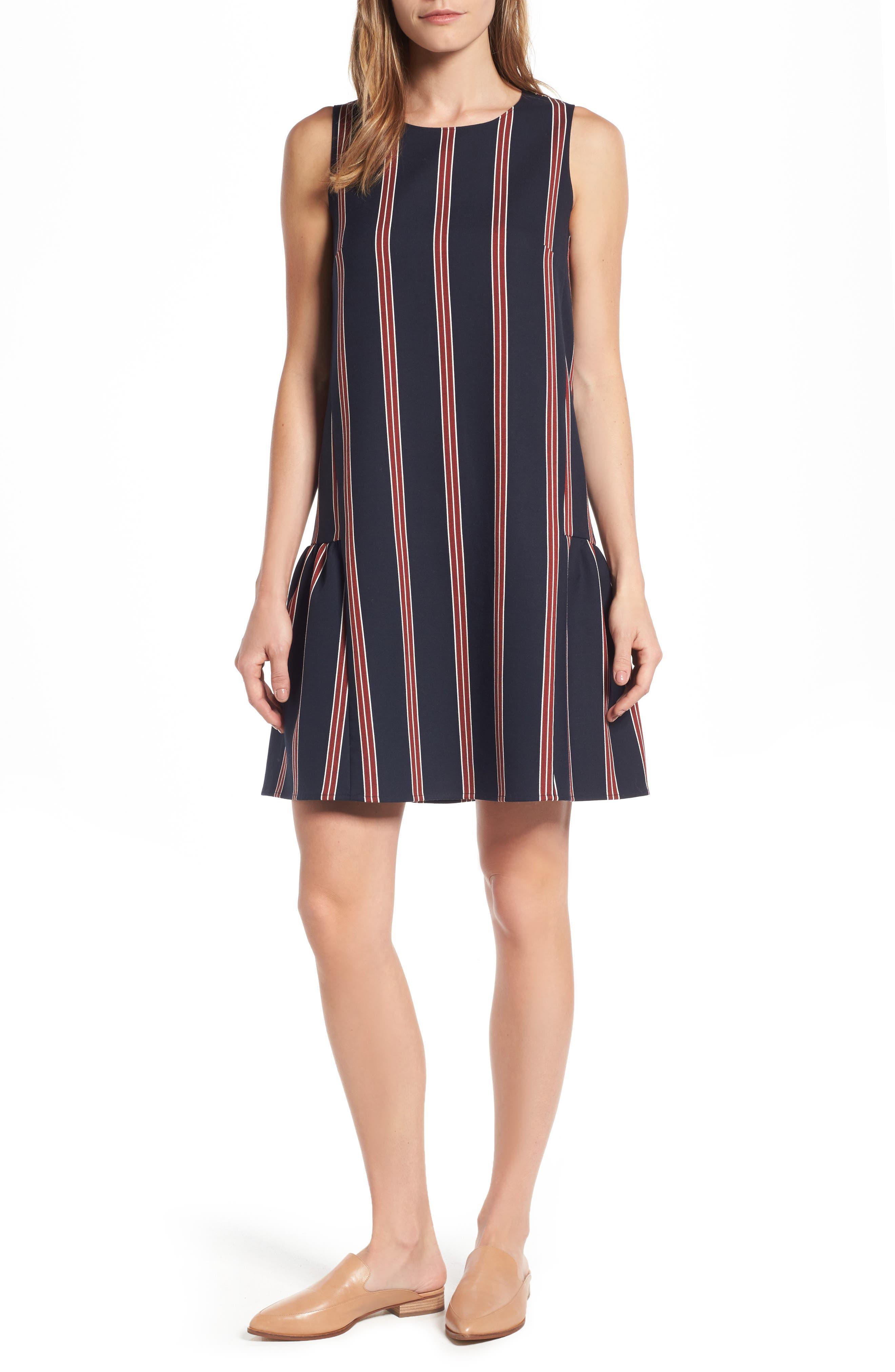 Alternate Image 1 Selected - Halogen® Flounce Back Shift Dress (Regular & Petite)
