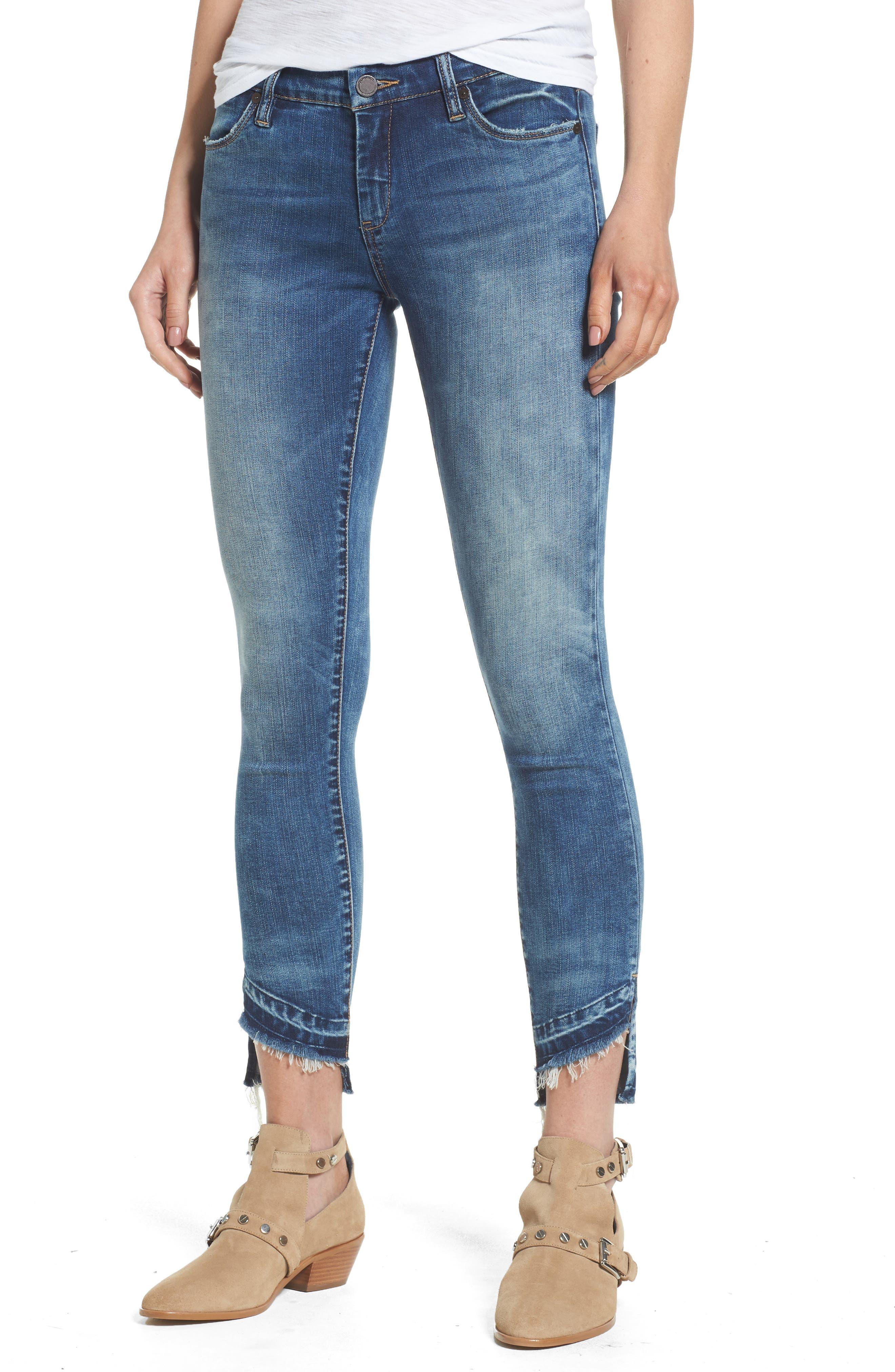 BLANKNYC Step Hem Skinny Jeans (Coffee Nap Blue)