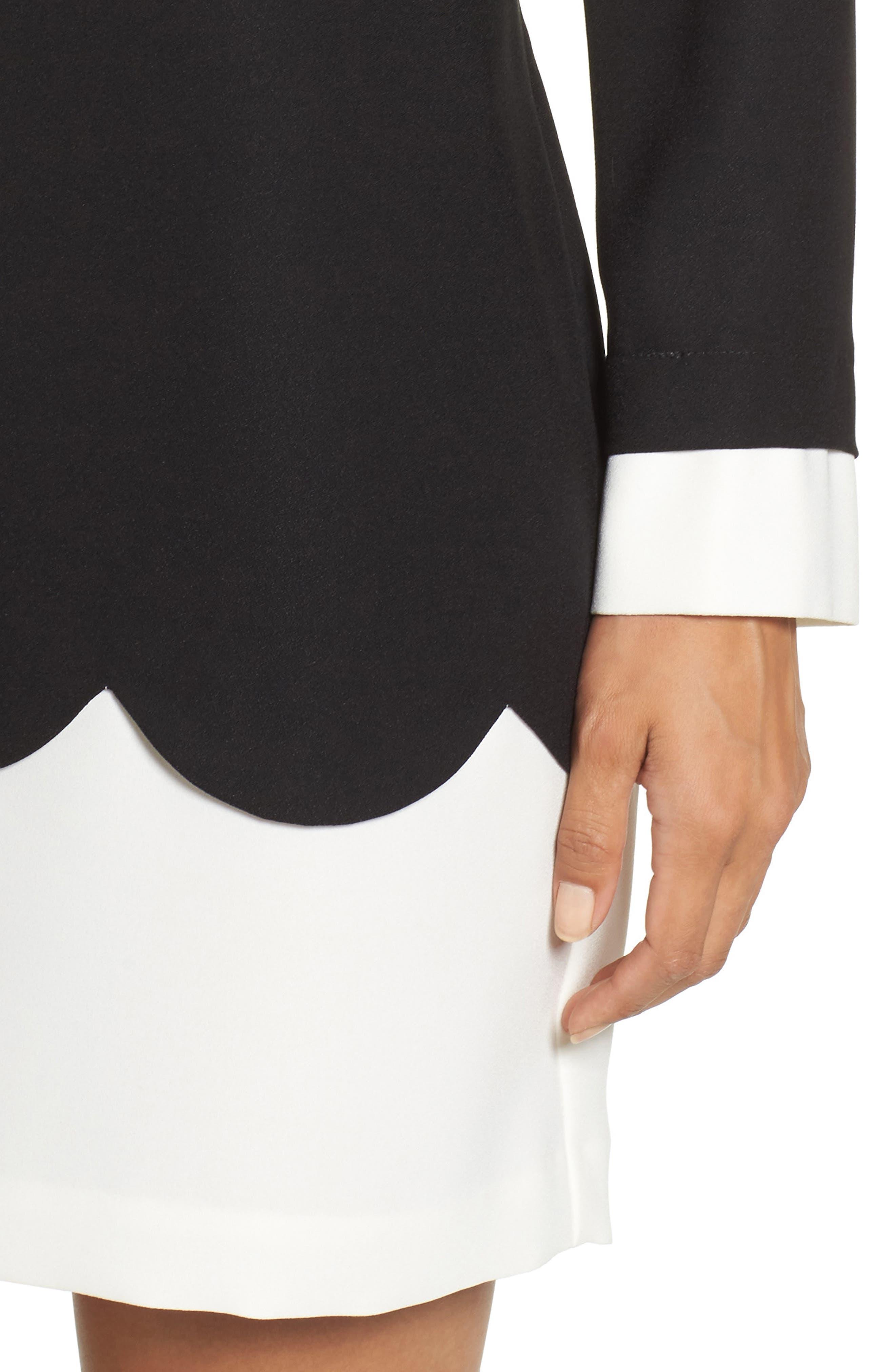 Alternate Image 4  - Cece Jada Scallop Shirtdress (Regular & Petite)