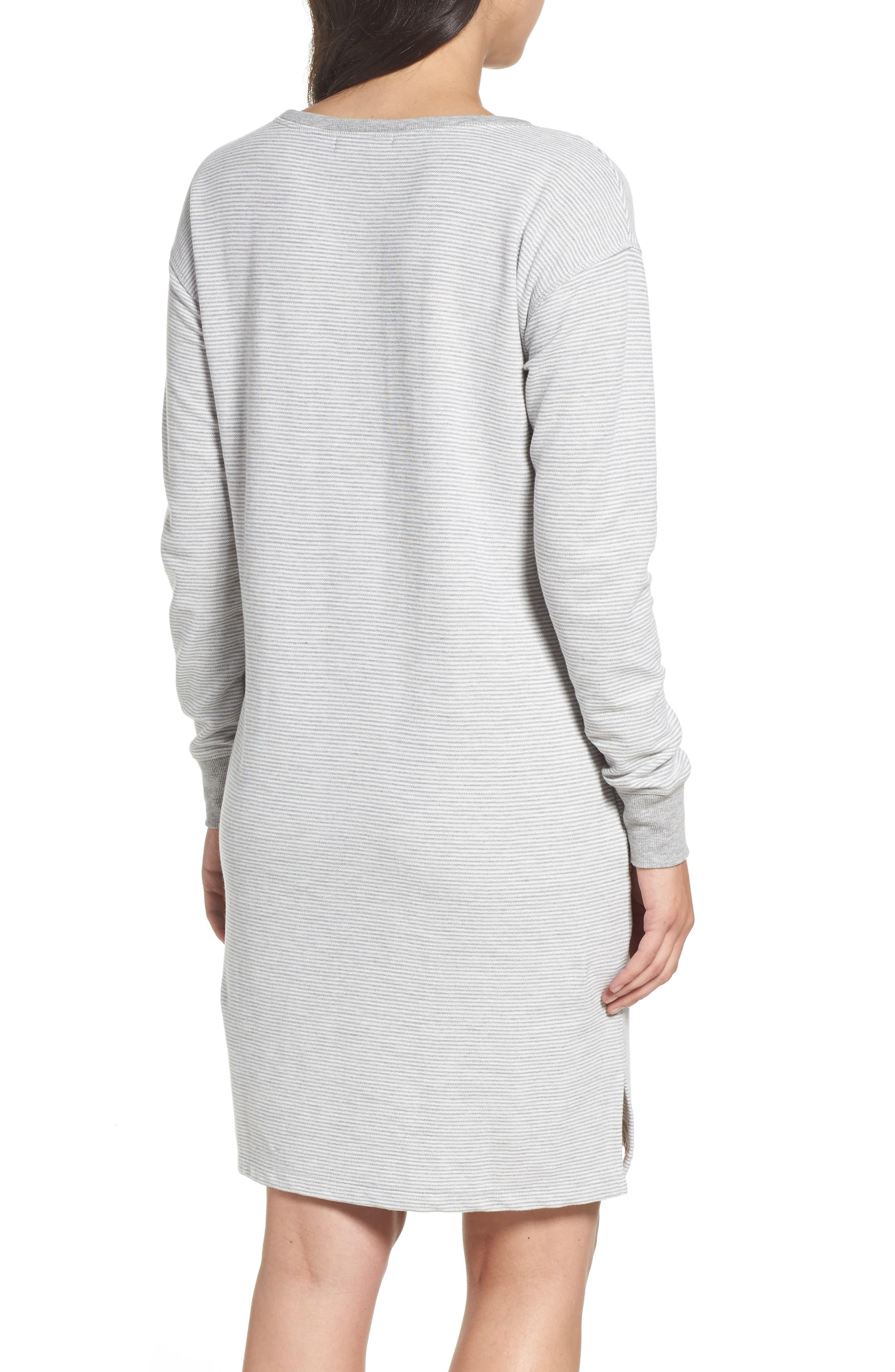 Alternate Image 2  - Lauren Ralph Lauren Longline Lounge Sweatshirt