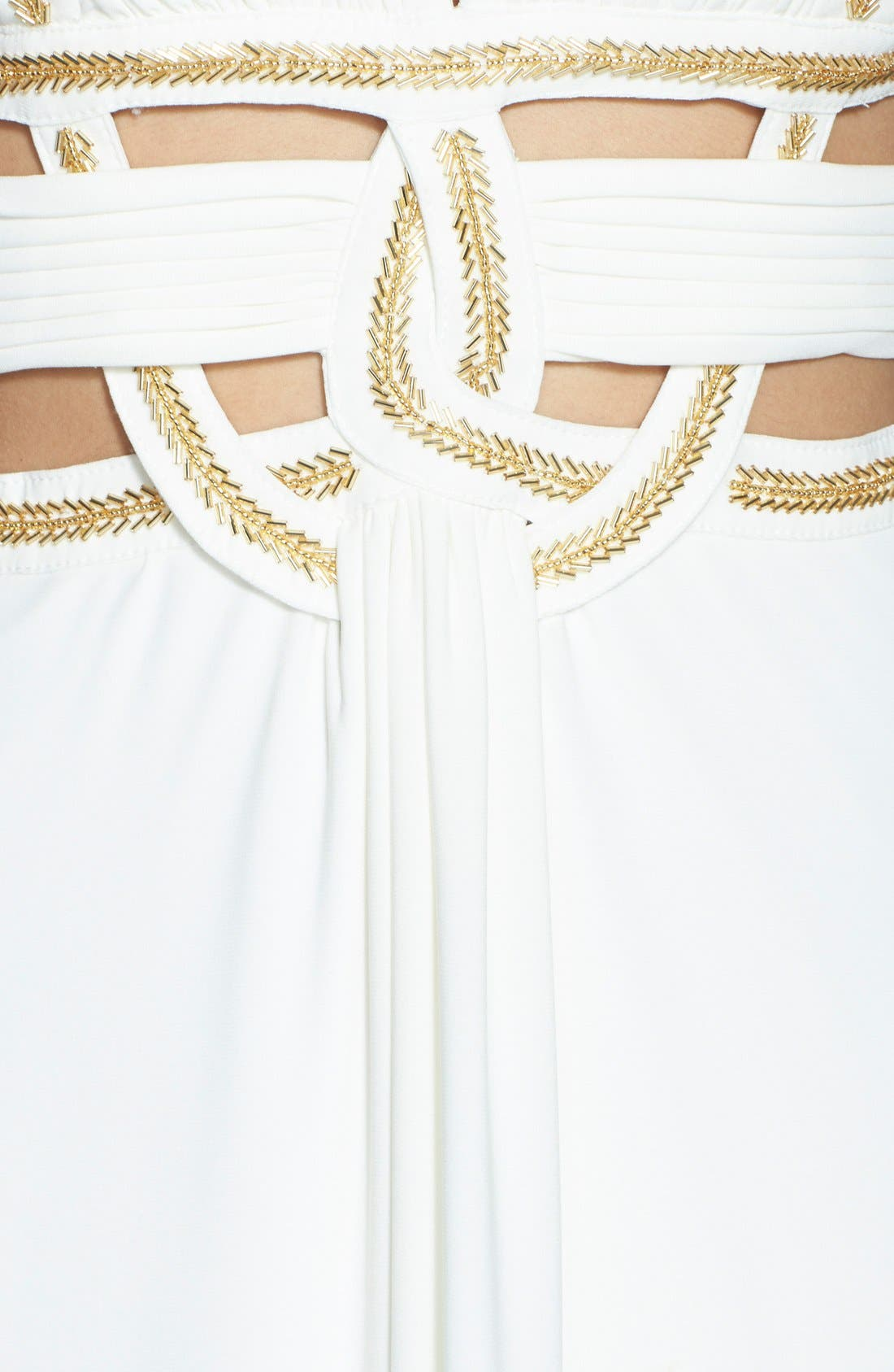 Alternate Image 3  - Betsy & Adam Beaded Cutout Jersey Gown
