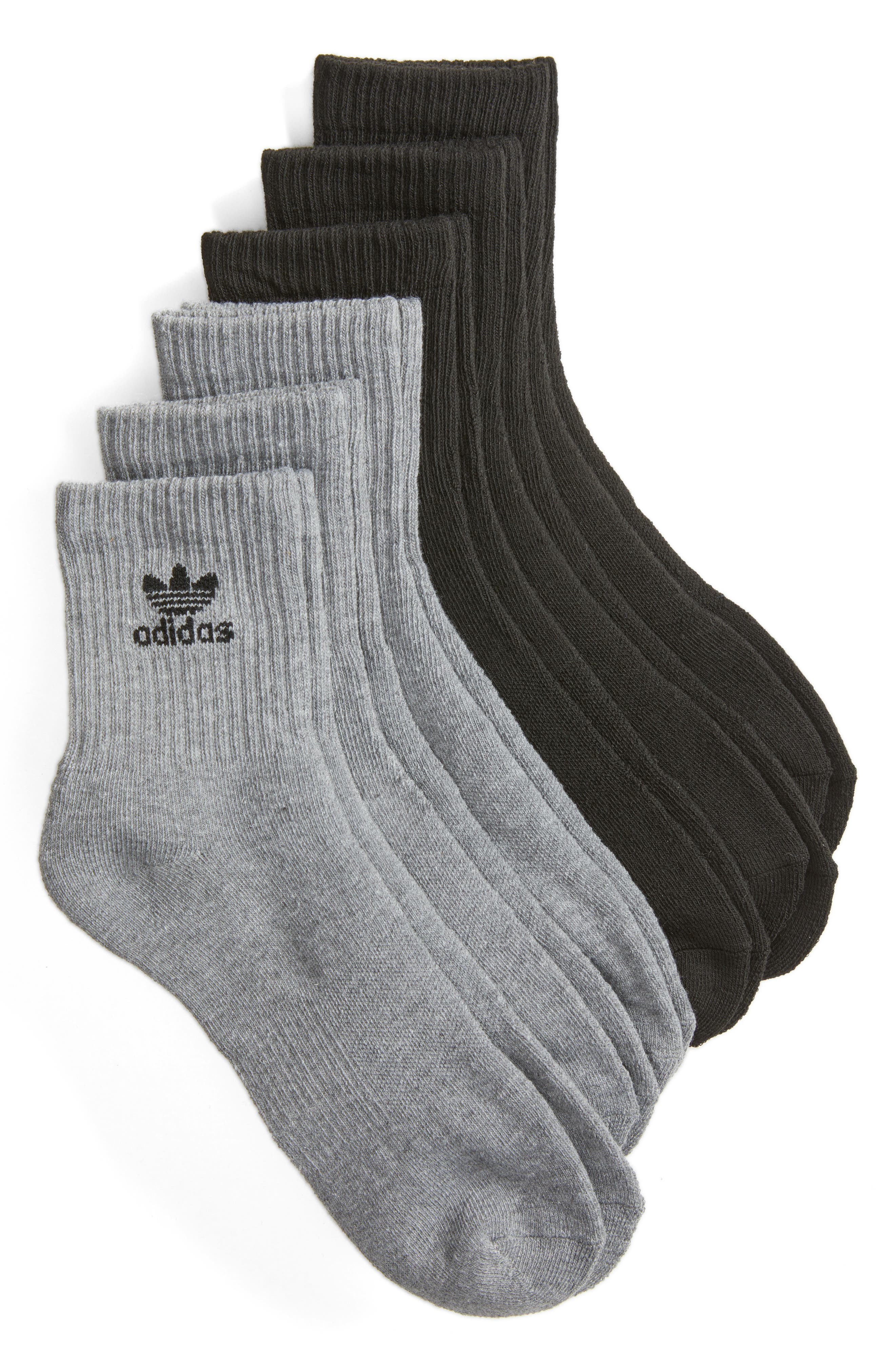 adidas Originals Trefoil 6-Pack Quarter Socks
