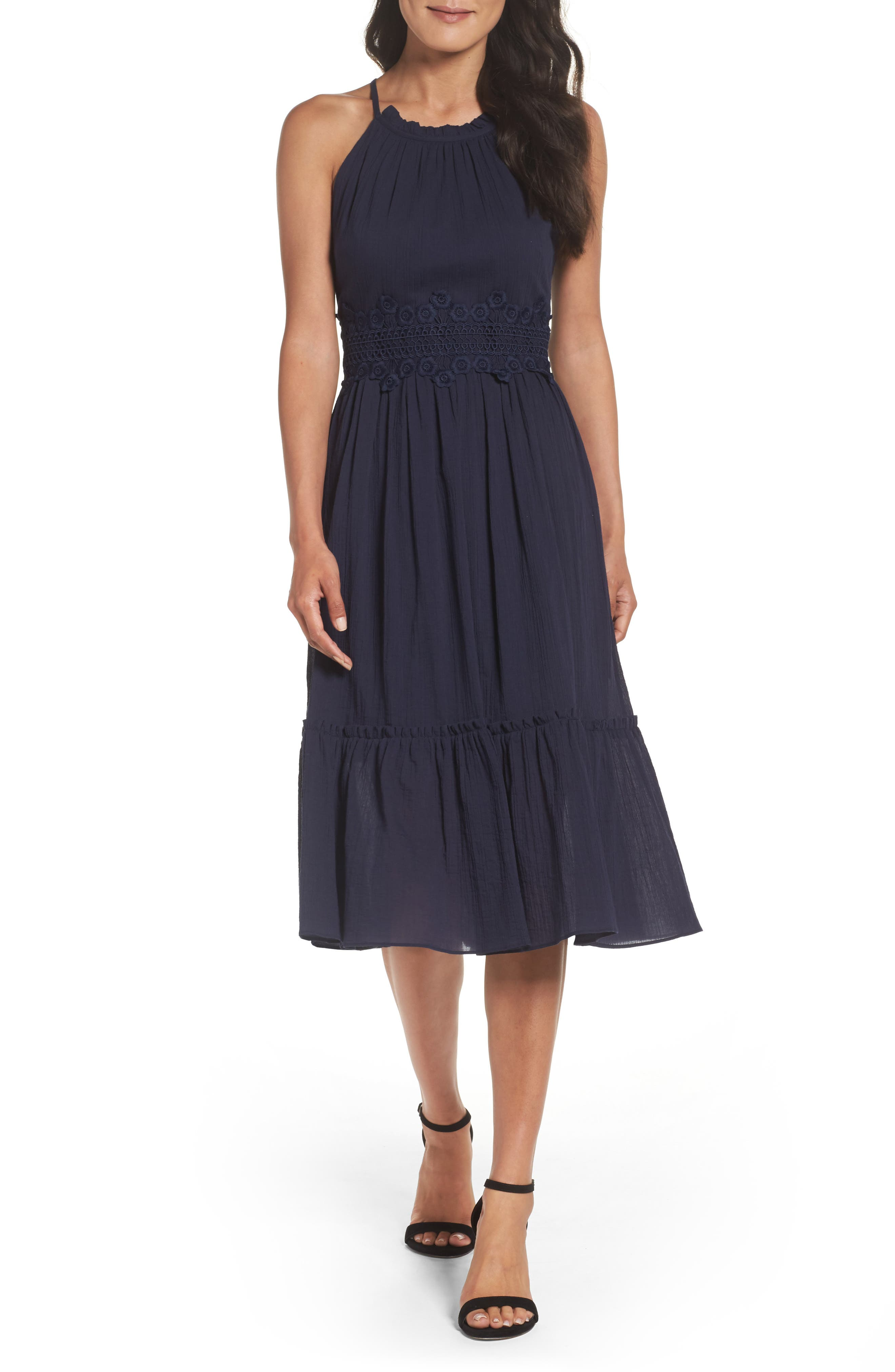 Eliza J Halter Midi Dress