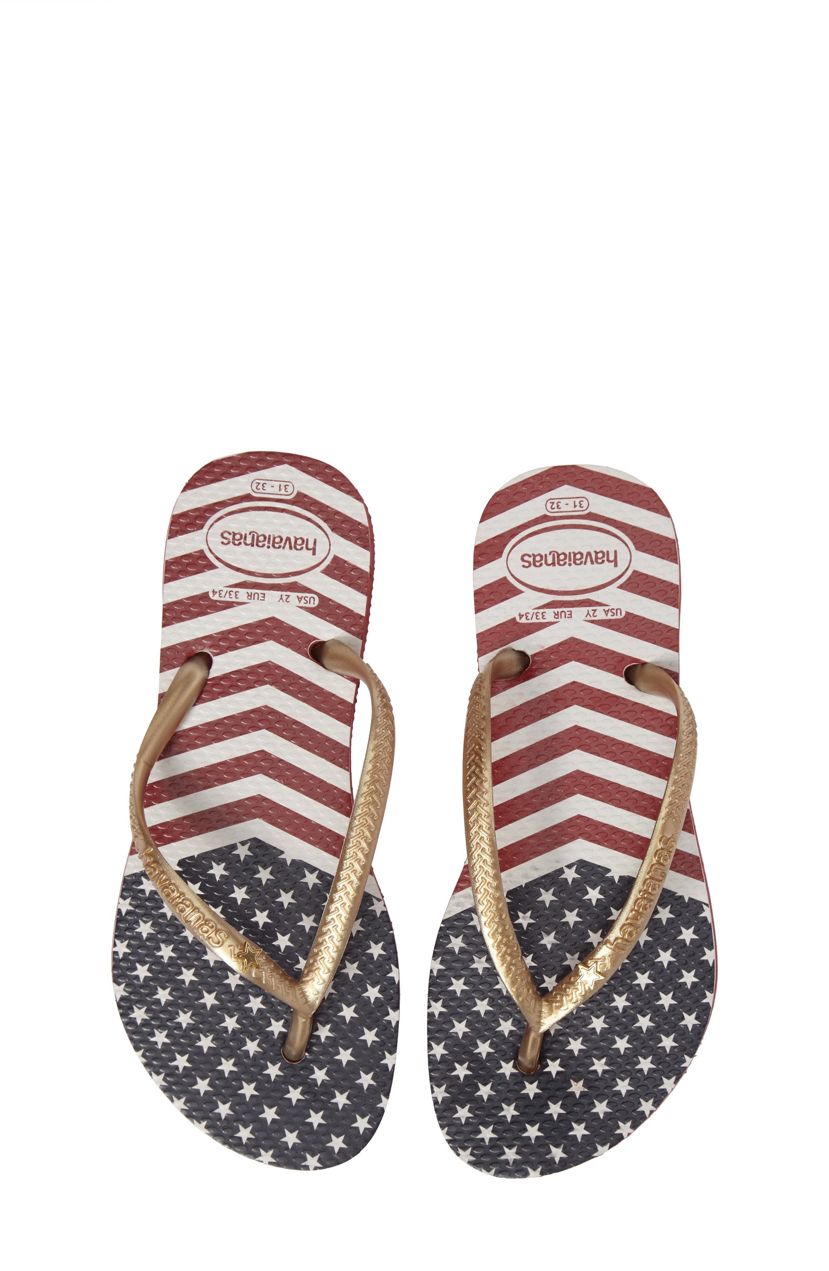 Havianas Slim Chevron Stars and Stripes Flip Flop (Toddler & Little Kid)