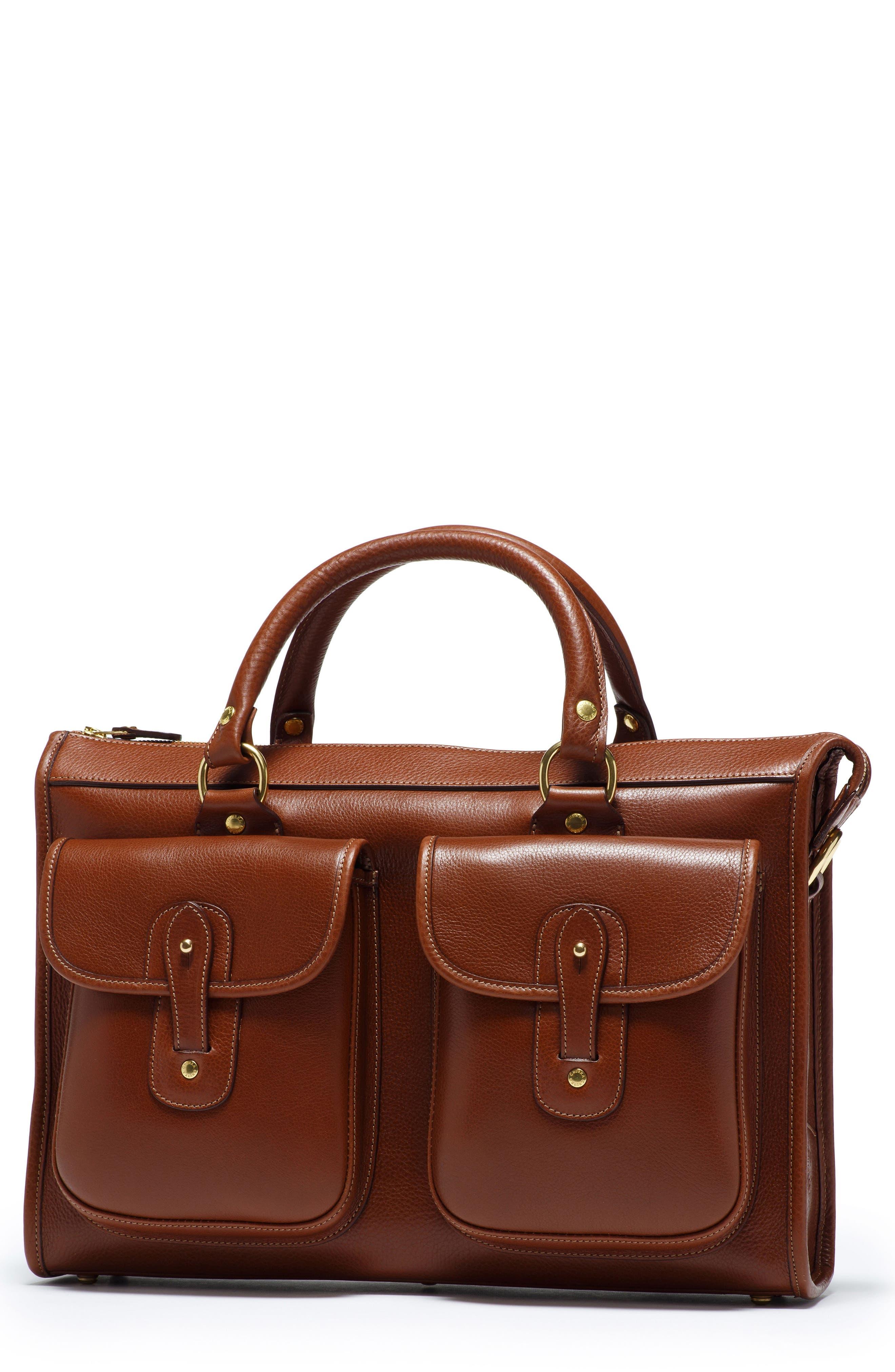 Ghurka 'Examiner' Leather Briefcase