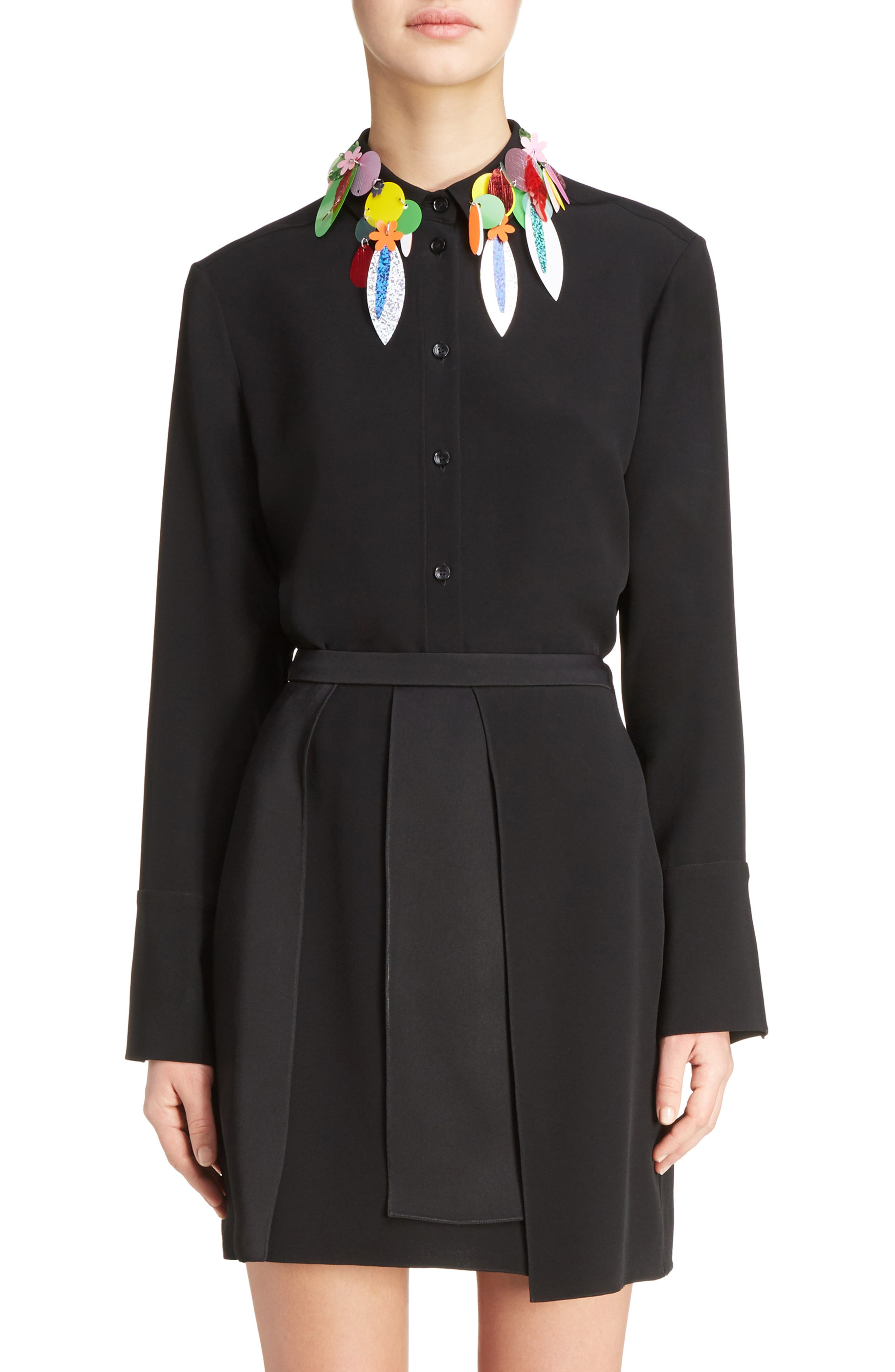 Christopher Kane Sequin Collar Blouse