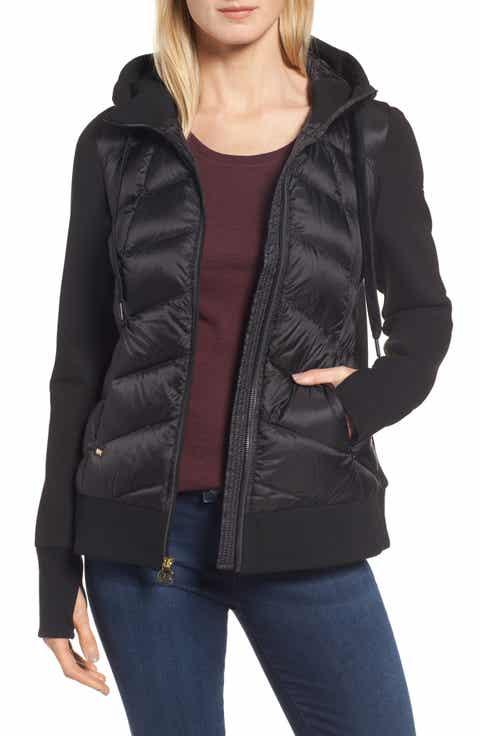 MICHAEL Michael Kors Hooded Down & Neoprene Jacket - Down & Puffer Jackets For Women Nordstrom