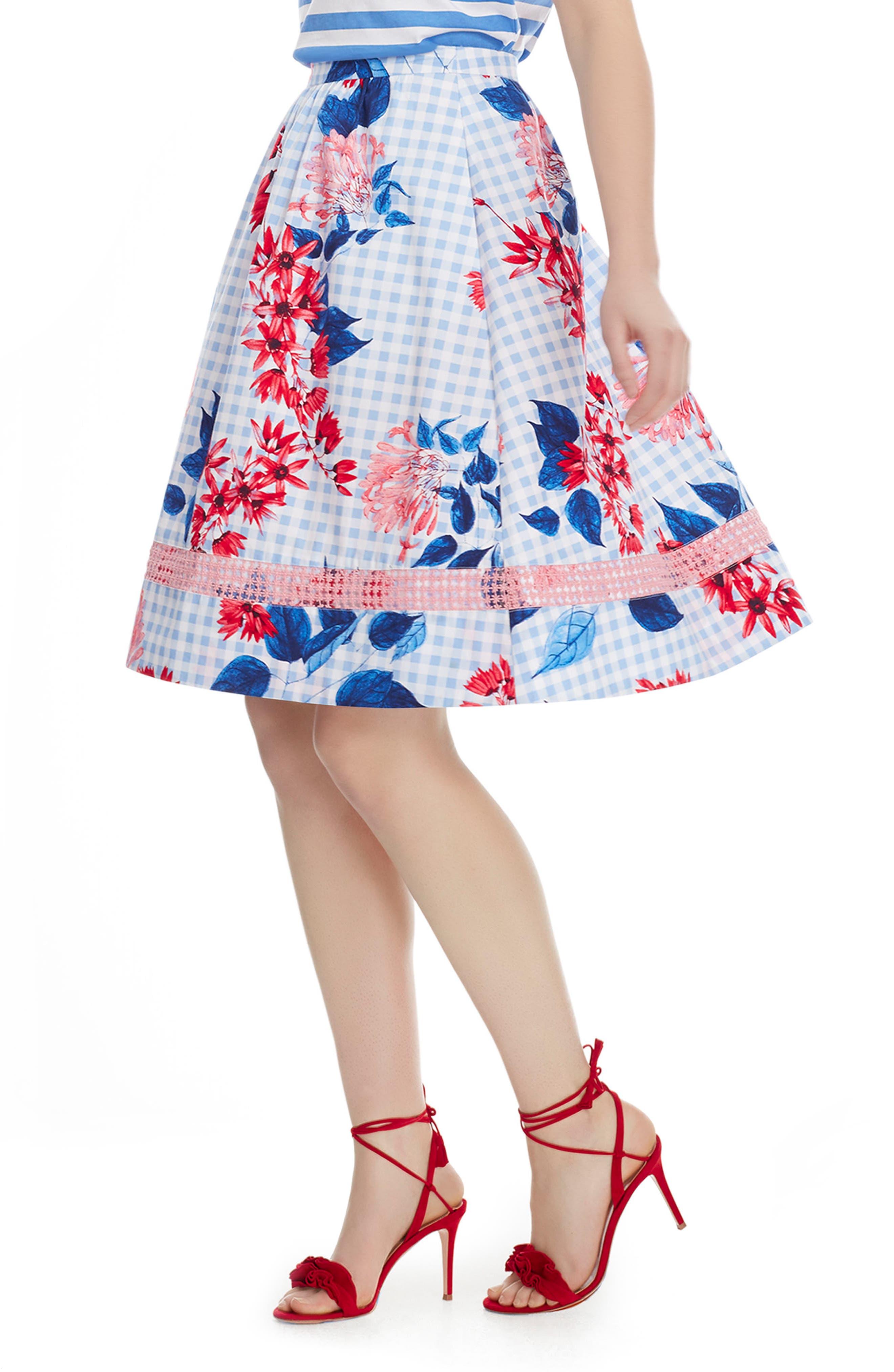 Draper James Garden Party Cotton Midi Skirt