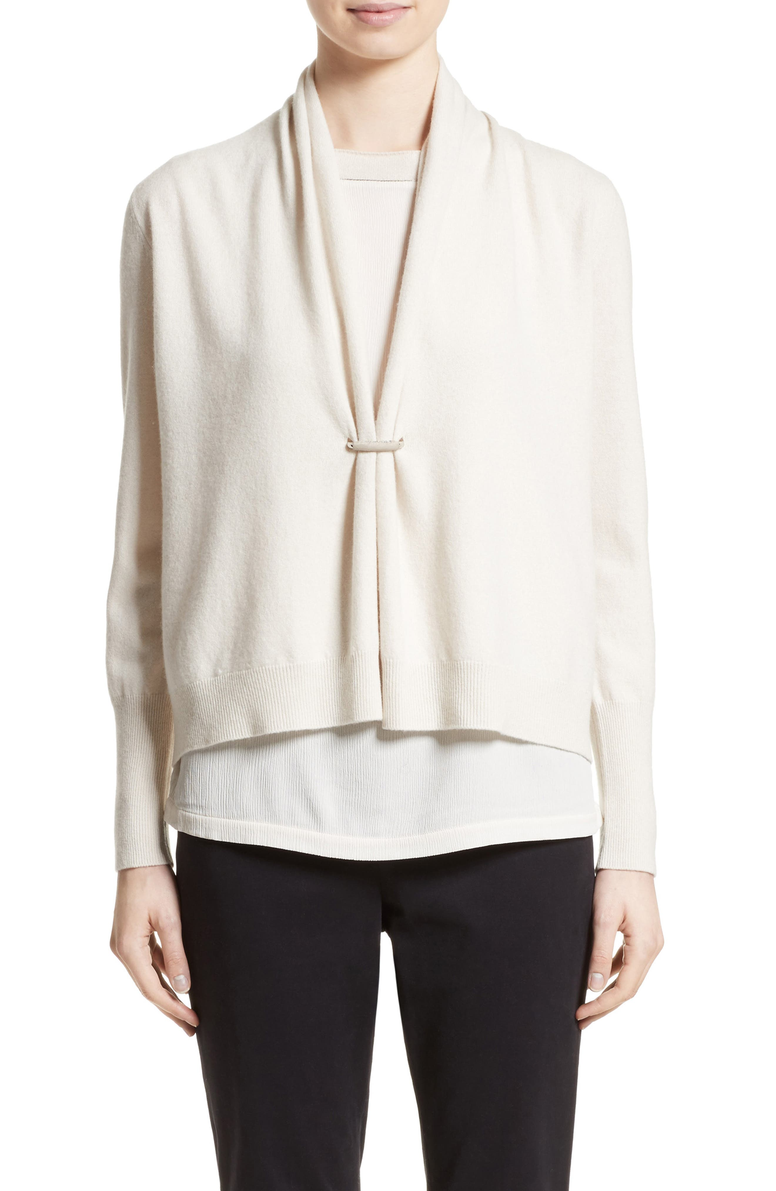 Fabiana Filippi Wool, Silk & Cashmere Shawl Collar Cardigan