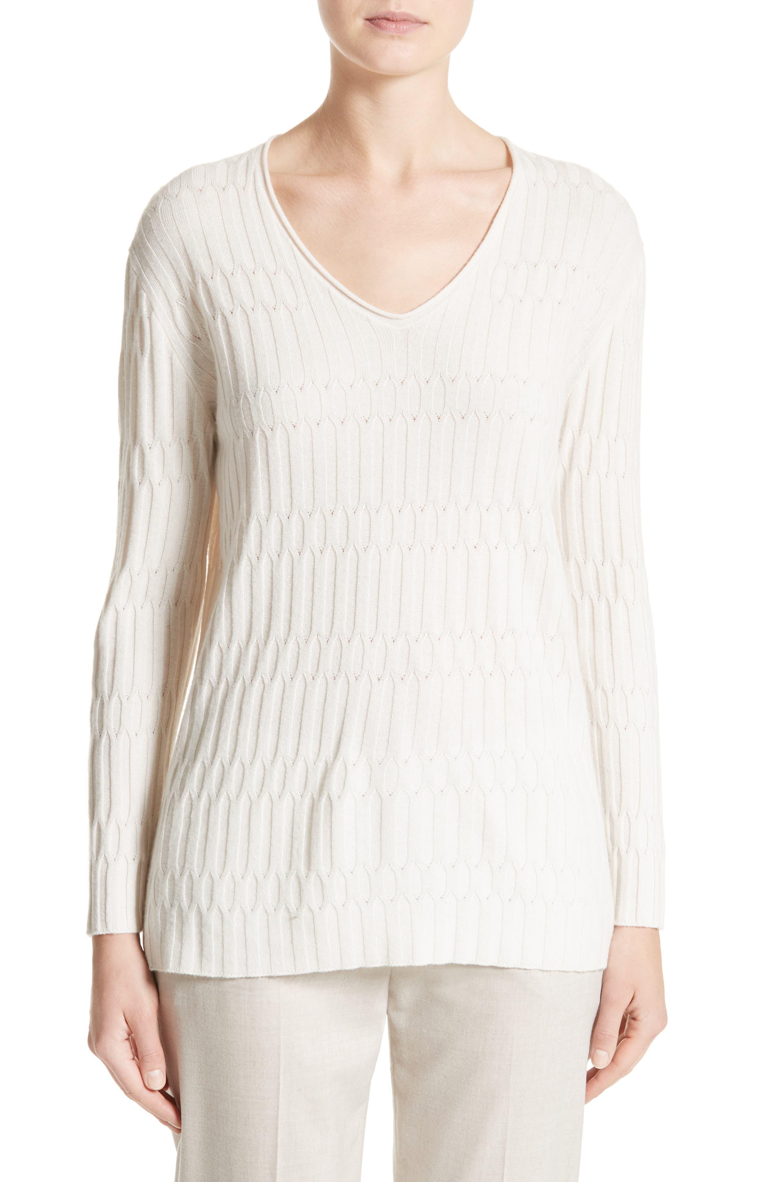 Fabiana Filippi Cashmere Column Knit Sweater