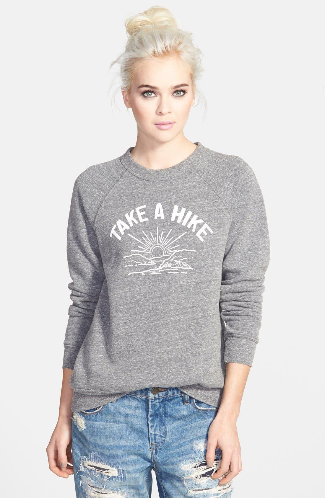 Alternate Image 1 Selected - Sub_Urban Riot 'Take a Hike' Raglan Sweatshirt