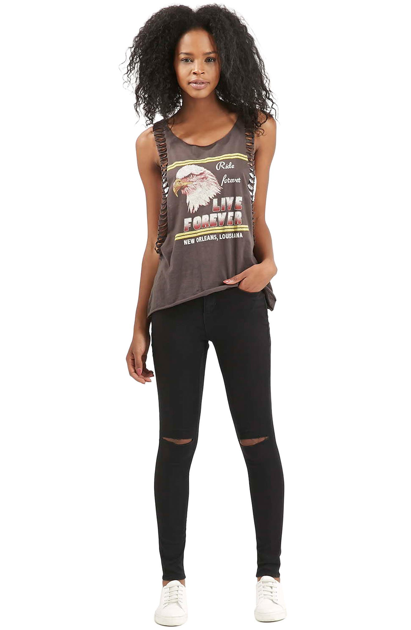 Alternate Image 2  - Topshop Moto Leigh Ripped Skinny Jeans