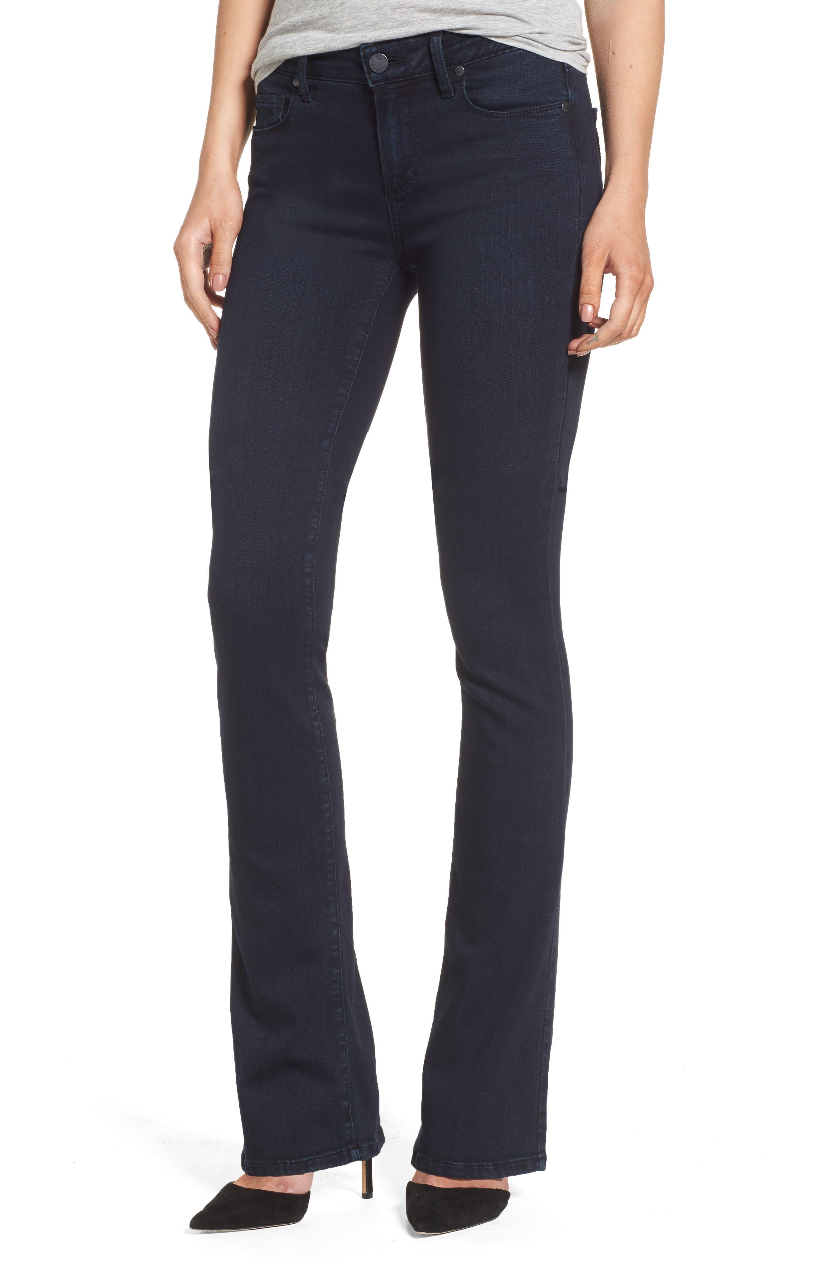 PAIGE Manhattan High Waist Bootcut Jeans (Brighton) (Petite)