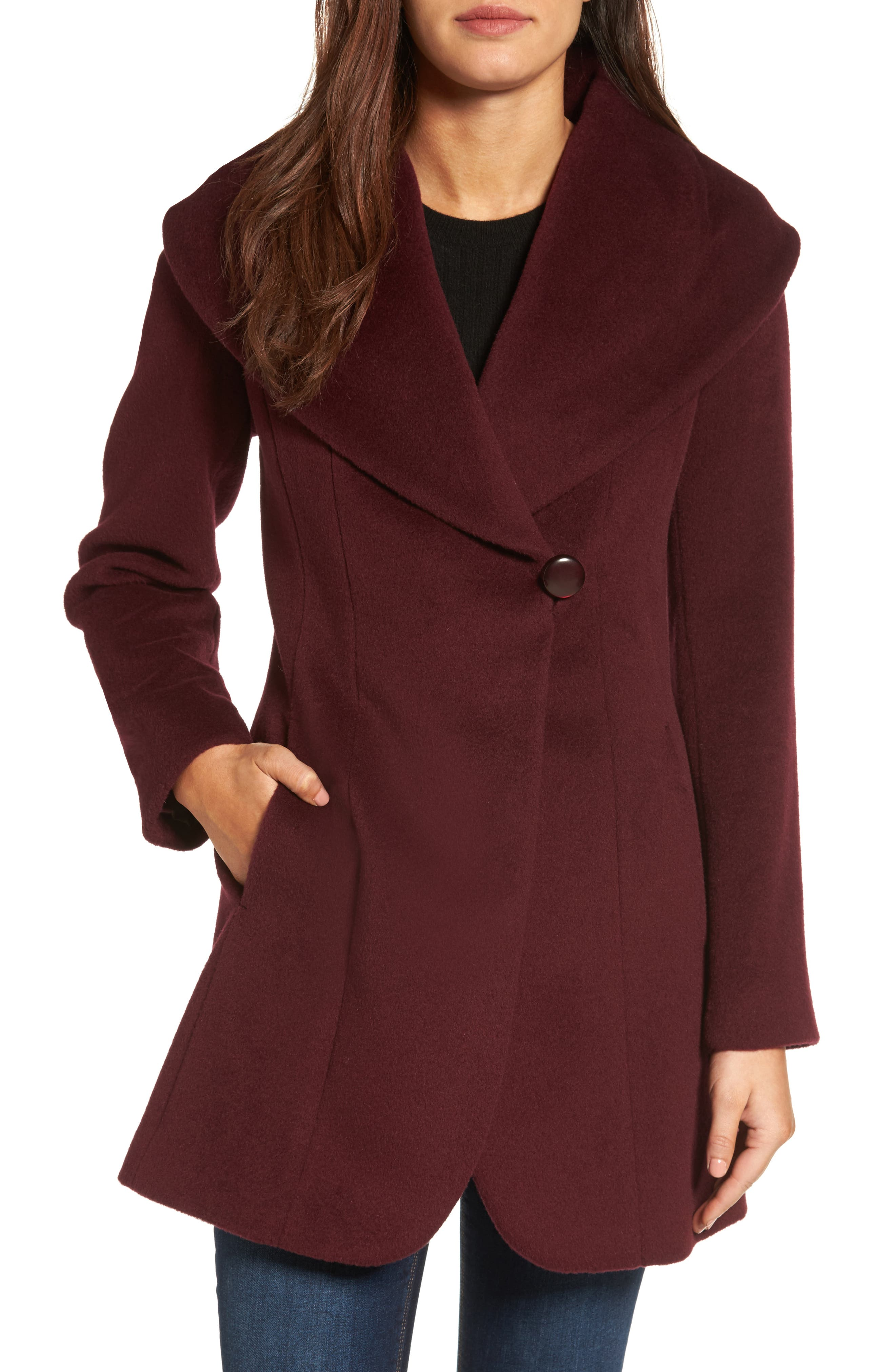 Trina Turk Jemma Shawl Collar Coat (Regular & Petite)