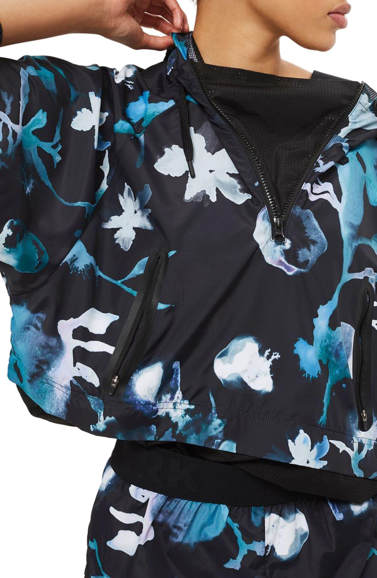 IVY PARK® Cloud Print Mesh Detail Hoodie