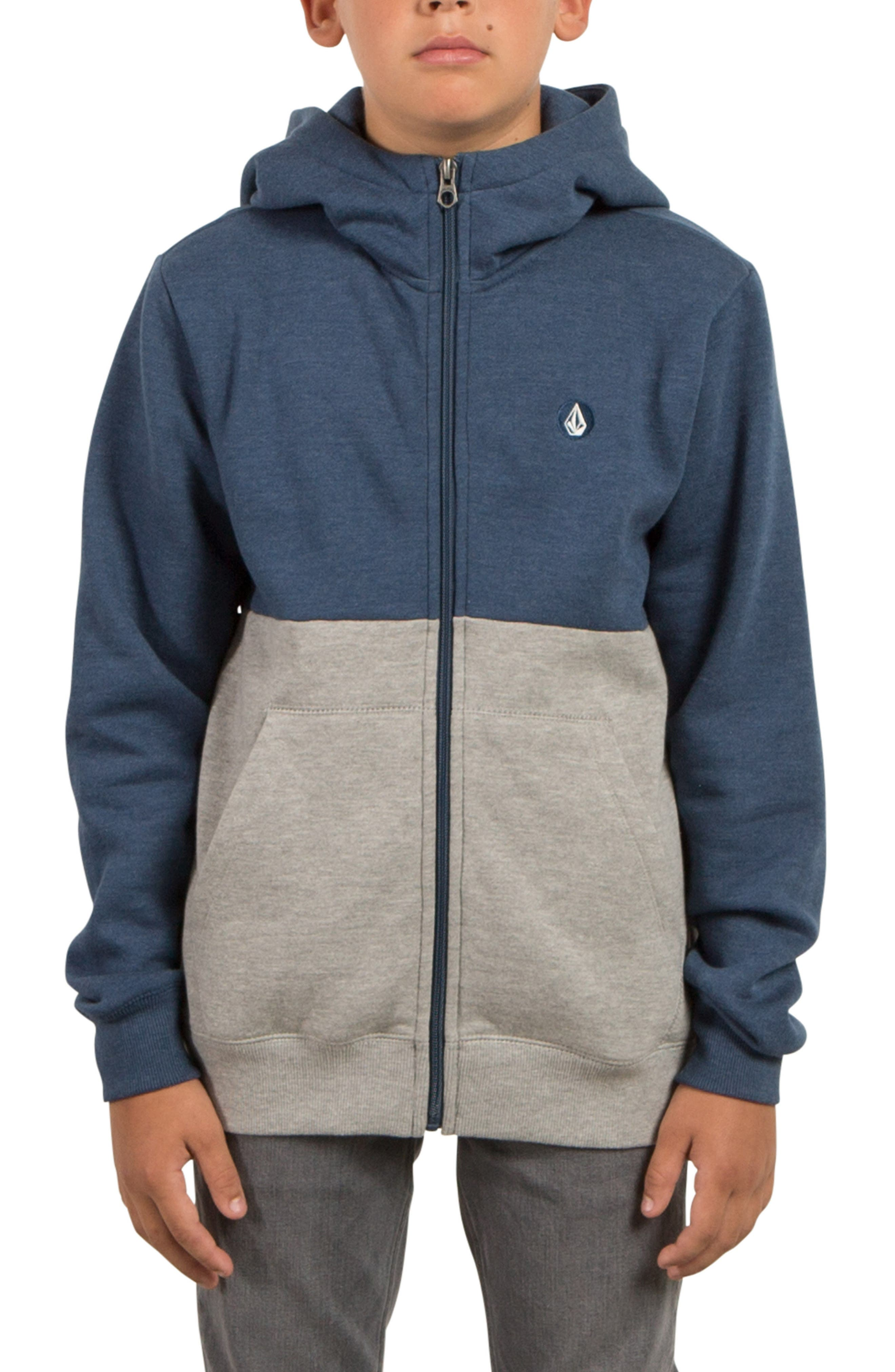 Volcom Single Stone Division Zip-Up Hoodie (Big Boys)