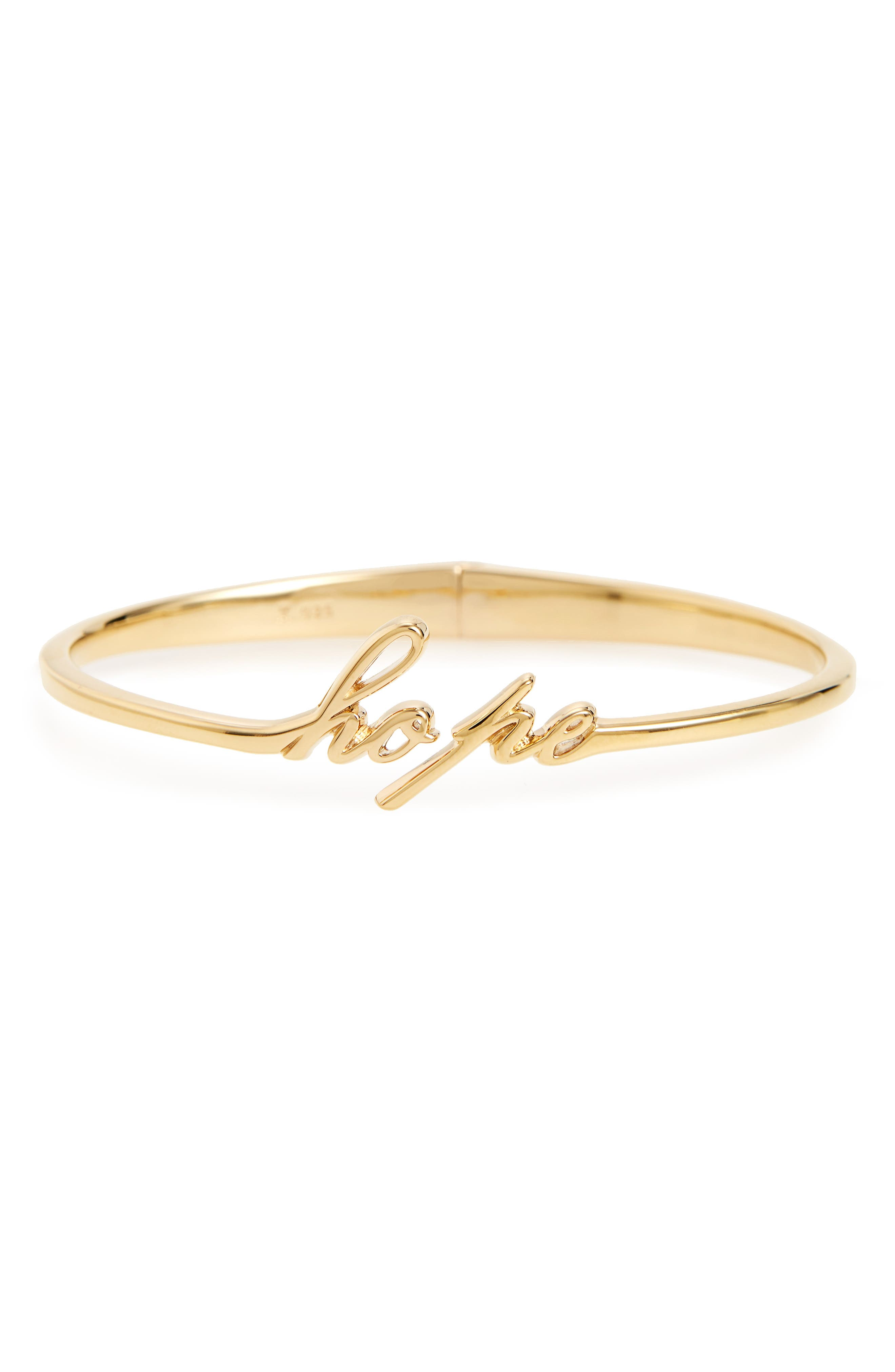 Judith Jack To Live by Hope Hinge Bangle