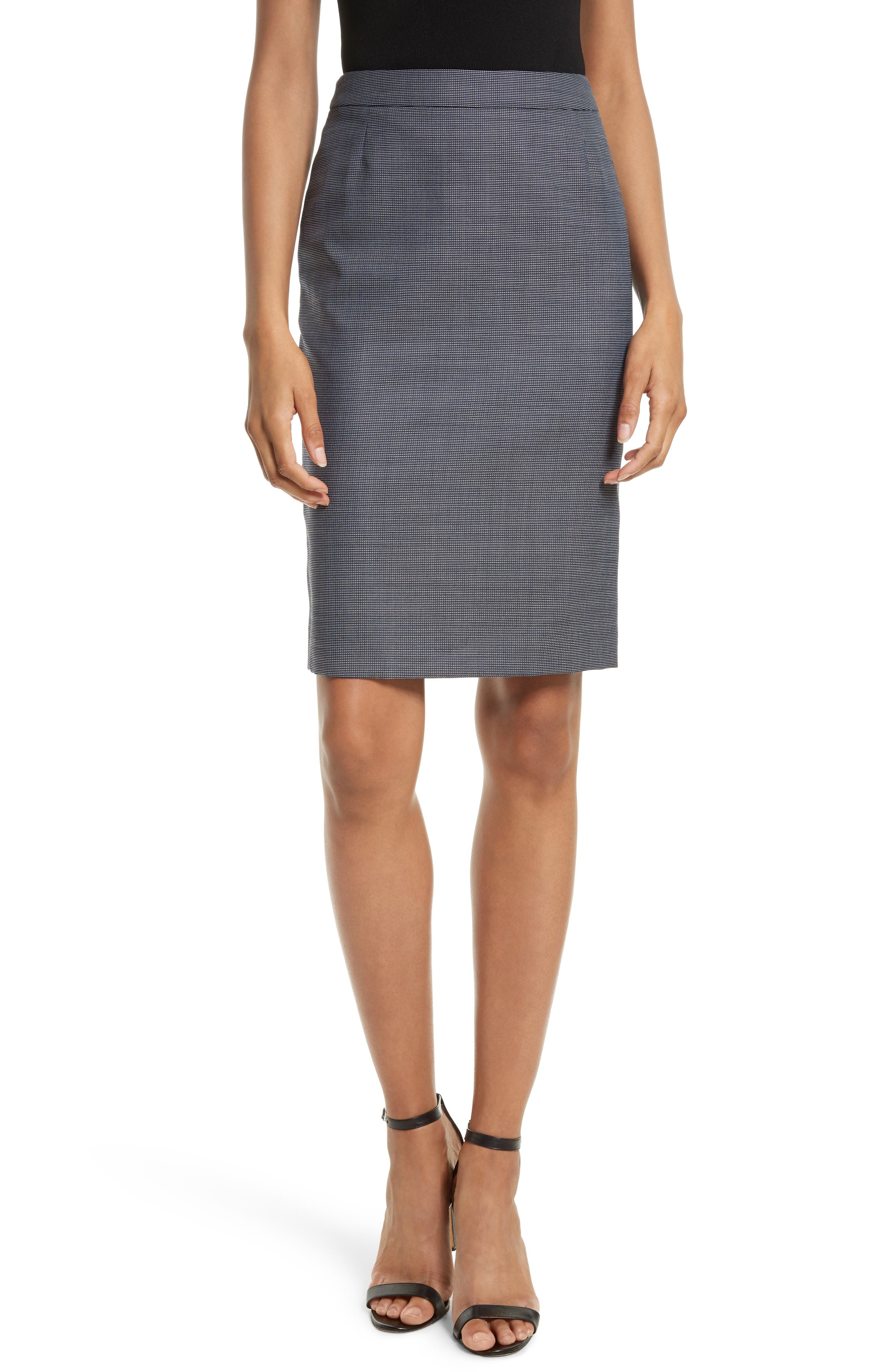 BOSS Vimena Tweed Pencil Skirt