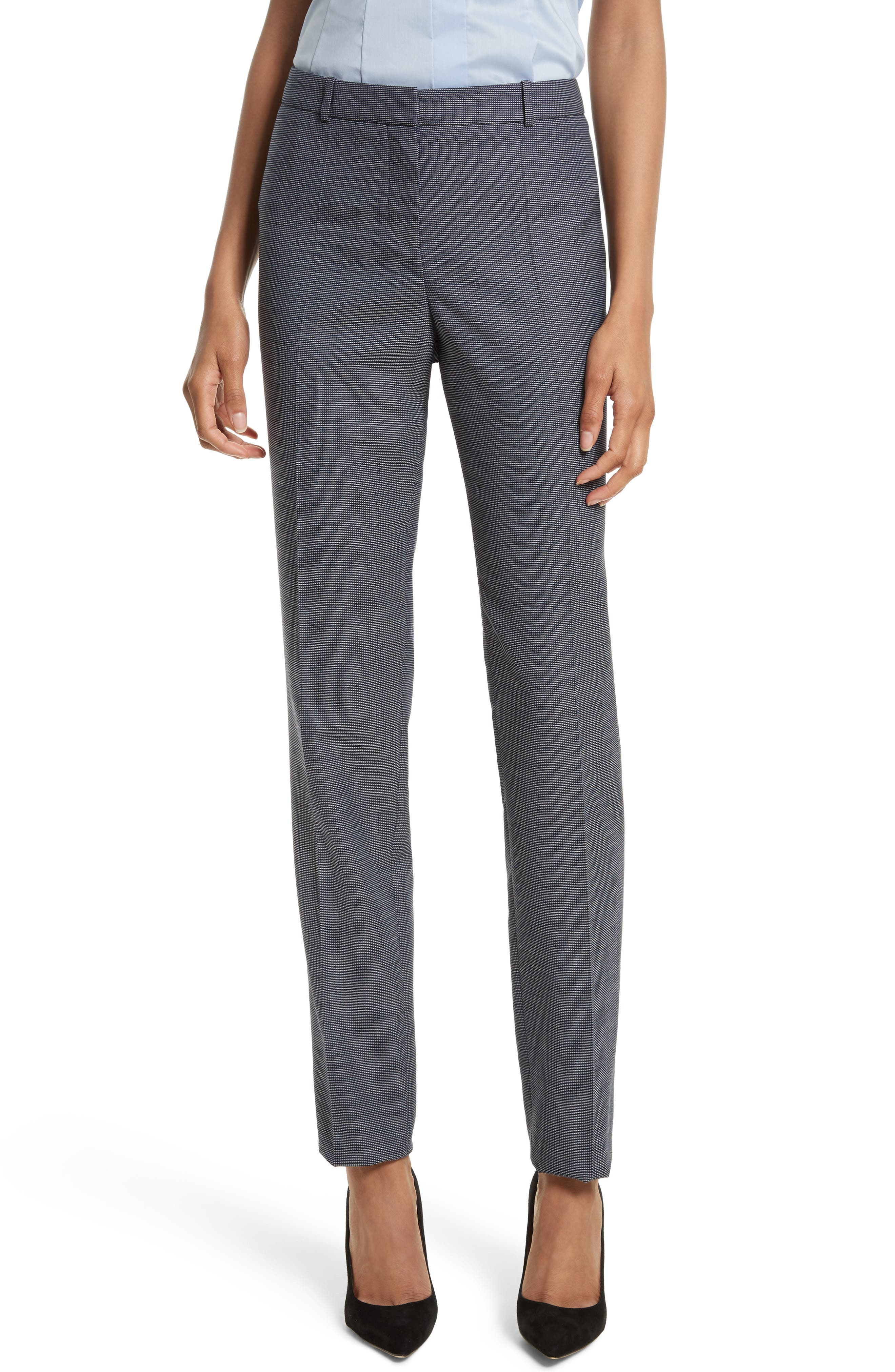 BOSS Tilunana Stretch Wool Trousers