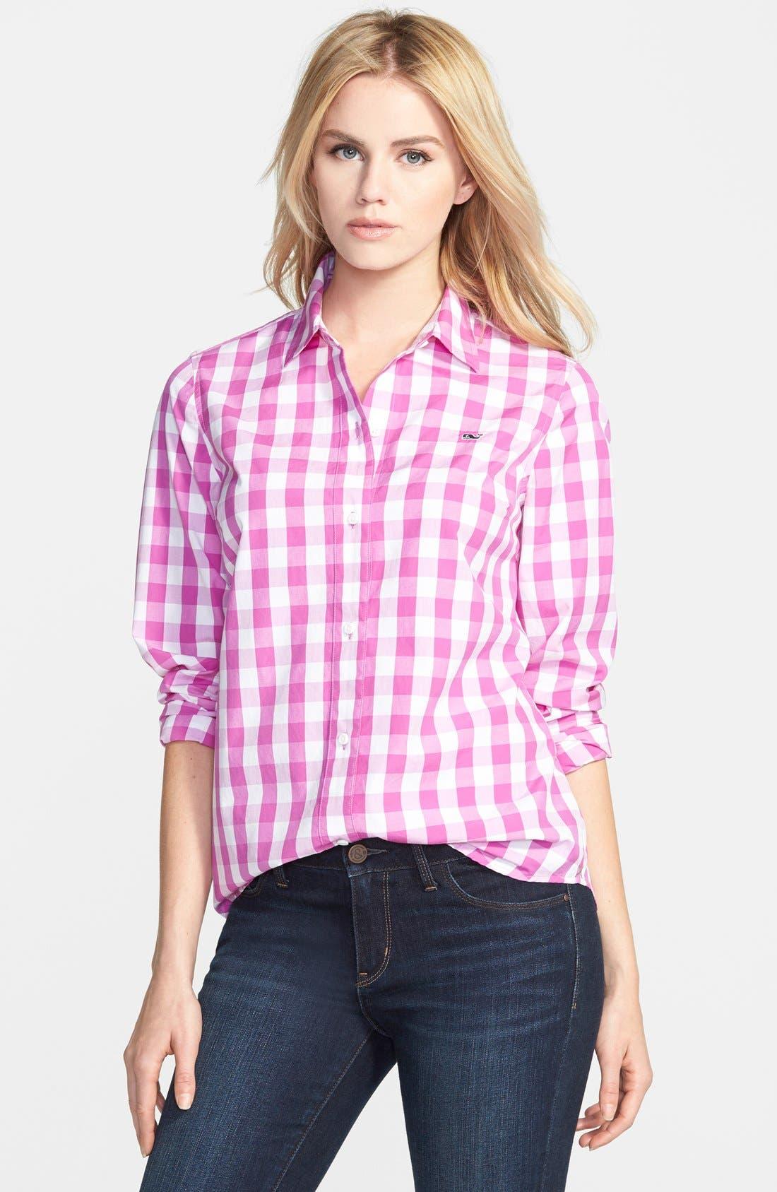 Alternate Image 1 Selected - Vineyard Vines Oversize Gingham Check Shirt