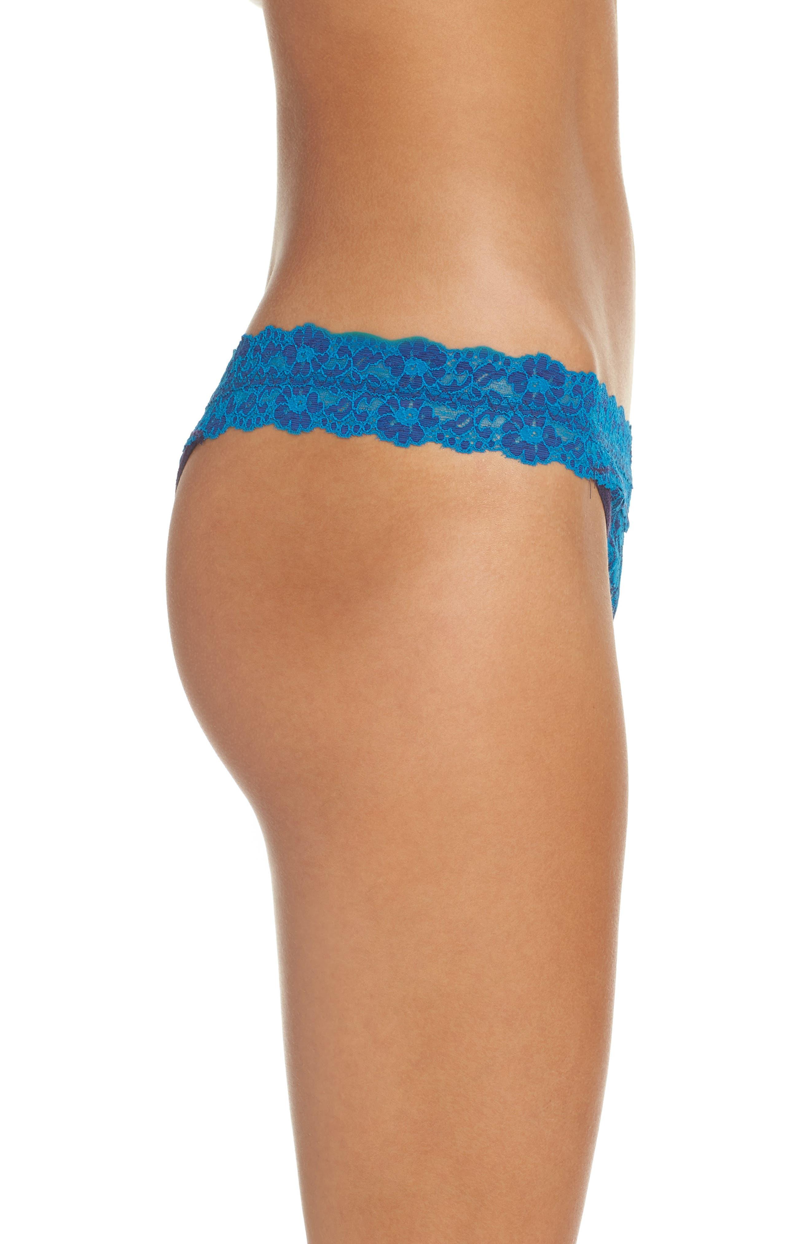 Alternate Image 3  - Hanky Panky Cross Dyed Regular Rise Thong
