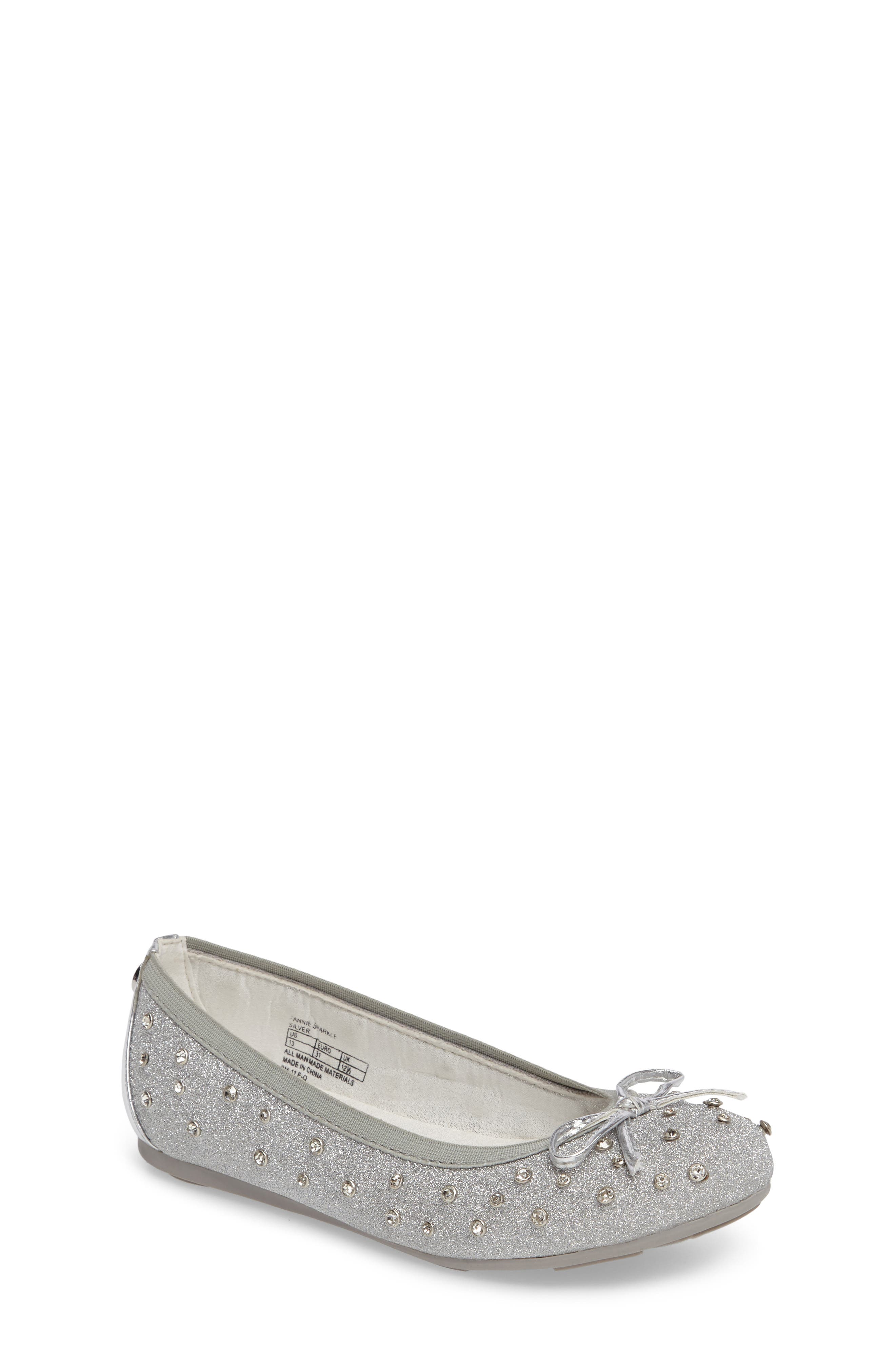 Stuart Weitzman Fannie Sparkle Ballet Flat (Walker, Toddler, Little Kid & Big Kid)