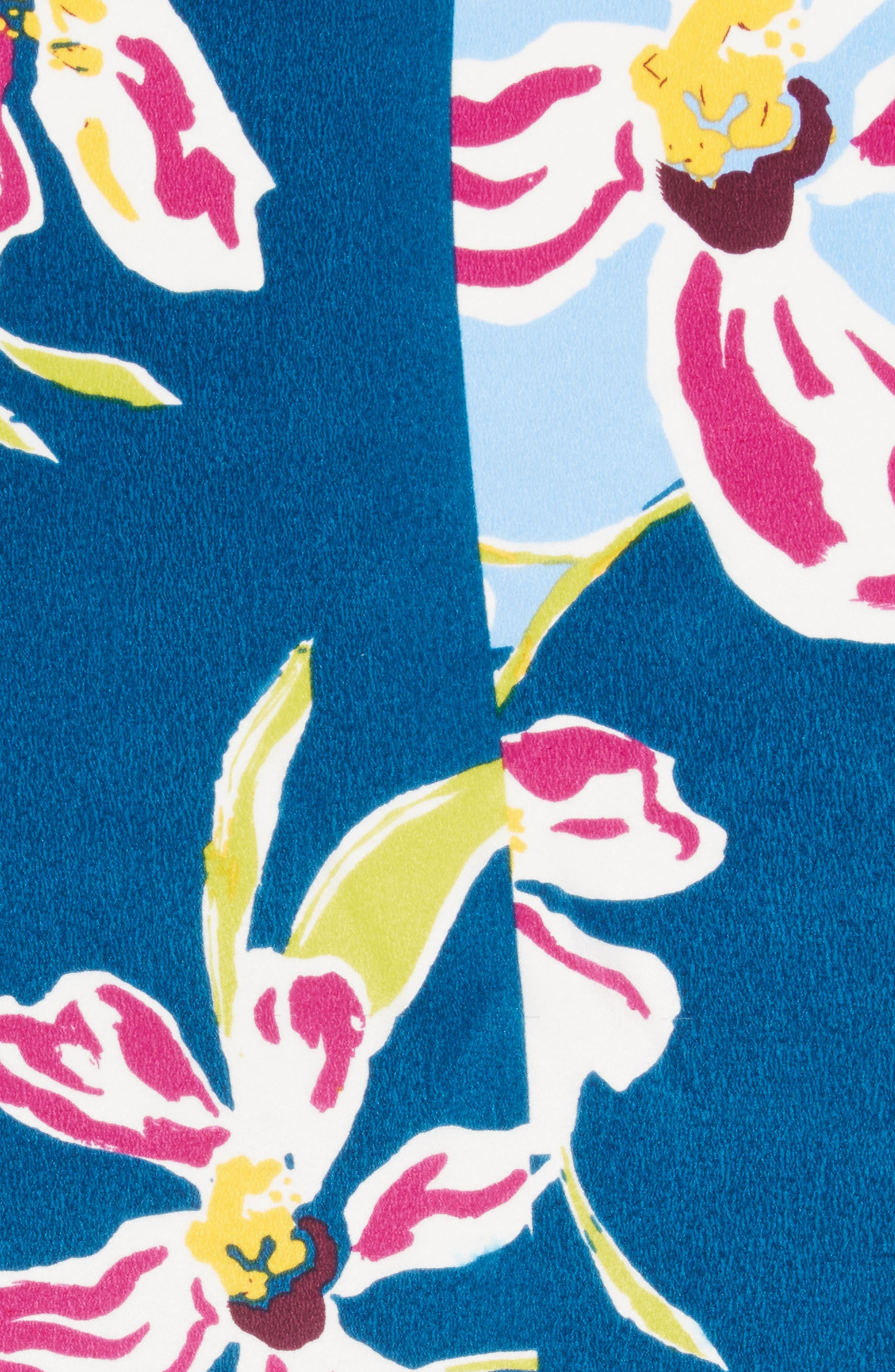 Alternate Image 4  - Halogen® Floral Tropicana Silk Scarf