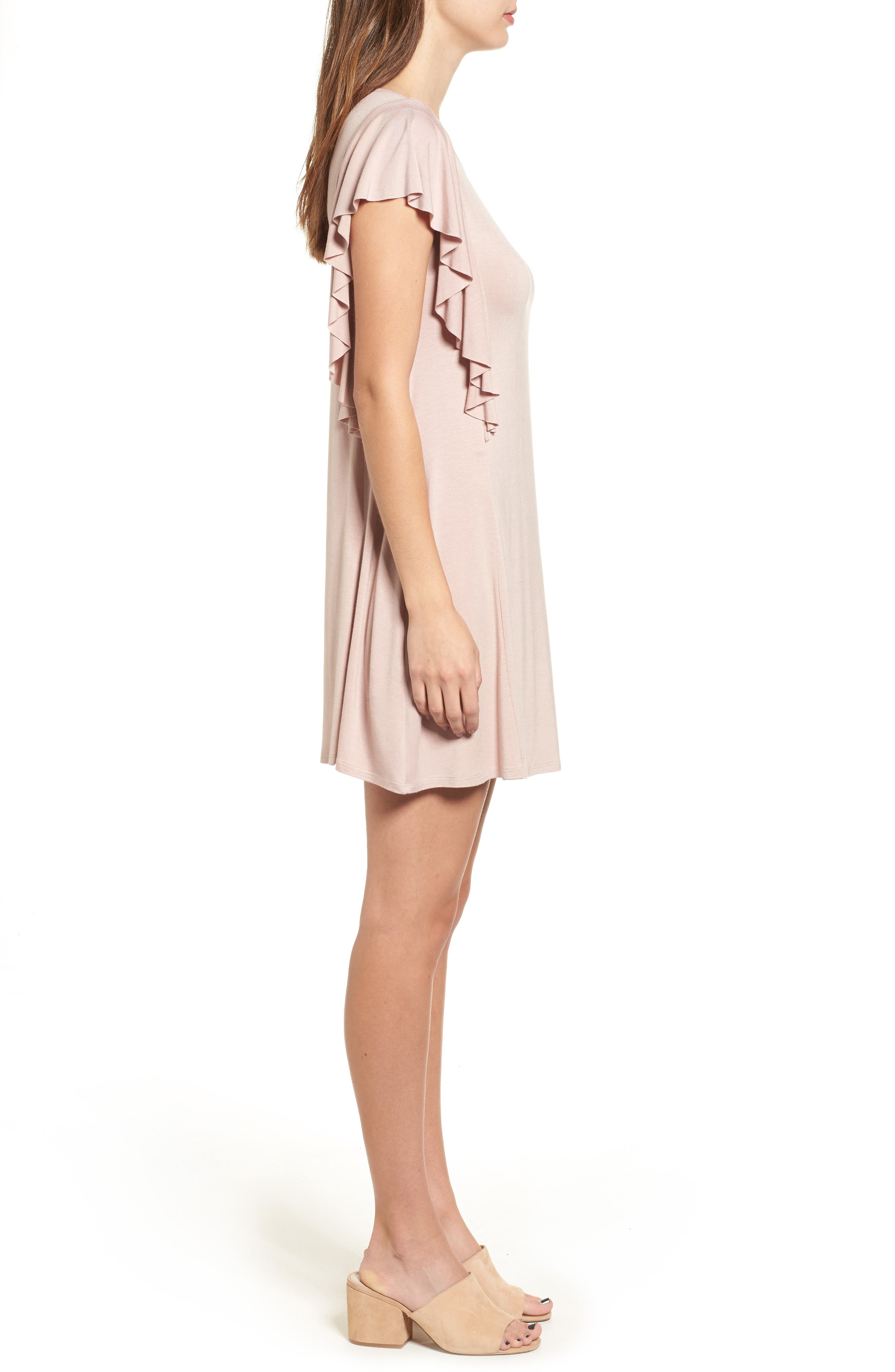 Alternate Image 3  - Socialite Ruffle Sleeve T-Shirt Dress