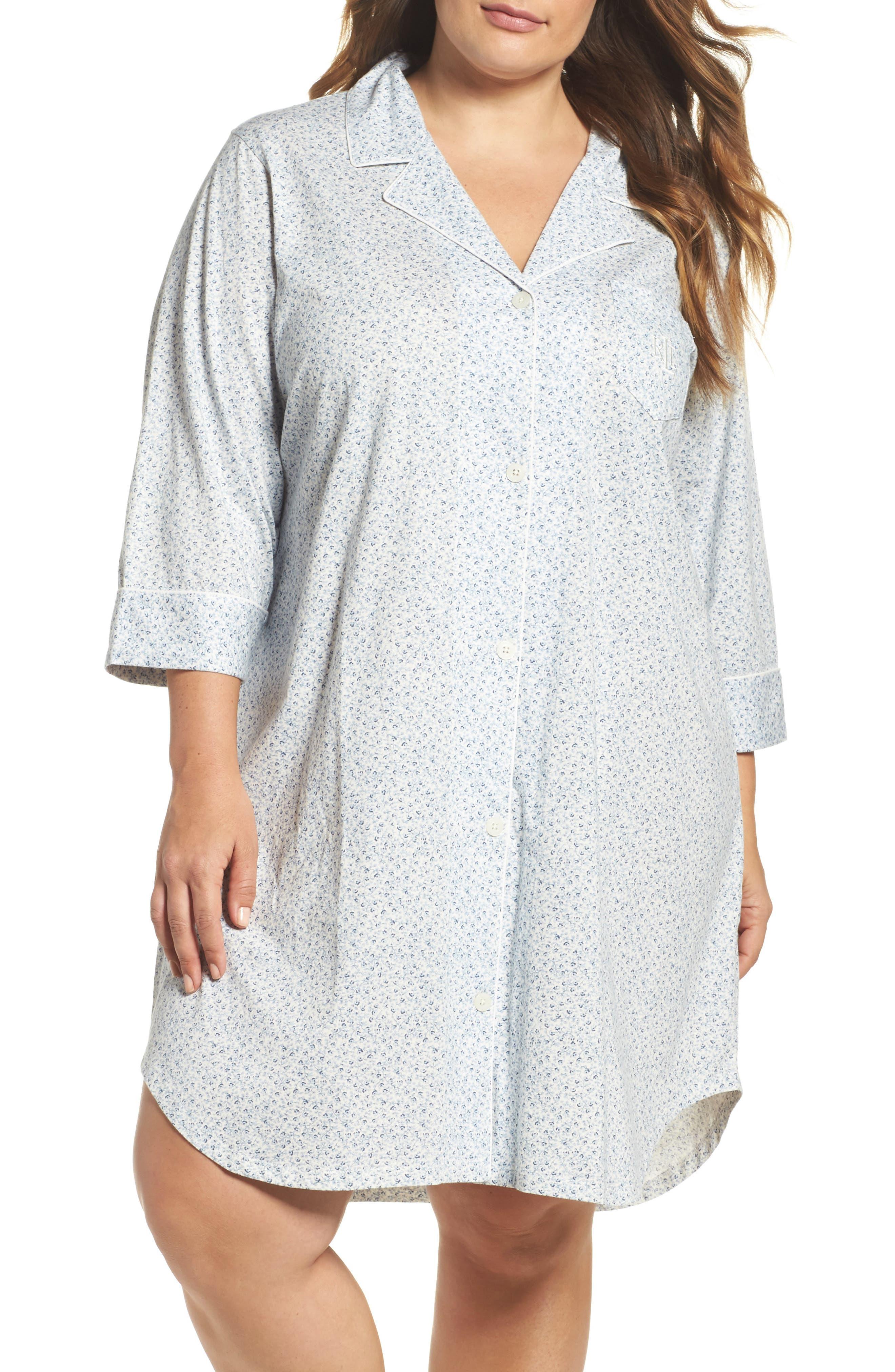 Lauren Ralph Lauren Jersey Nightshirt (Plus Size)