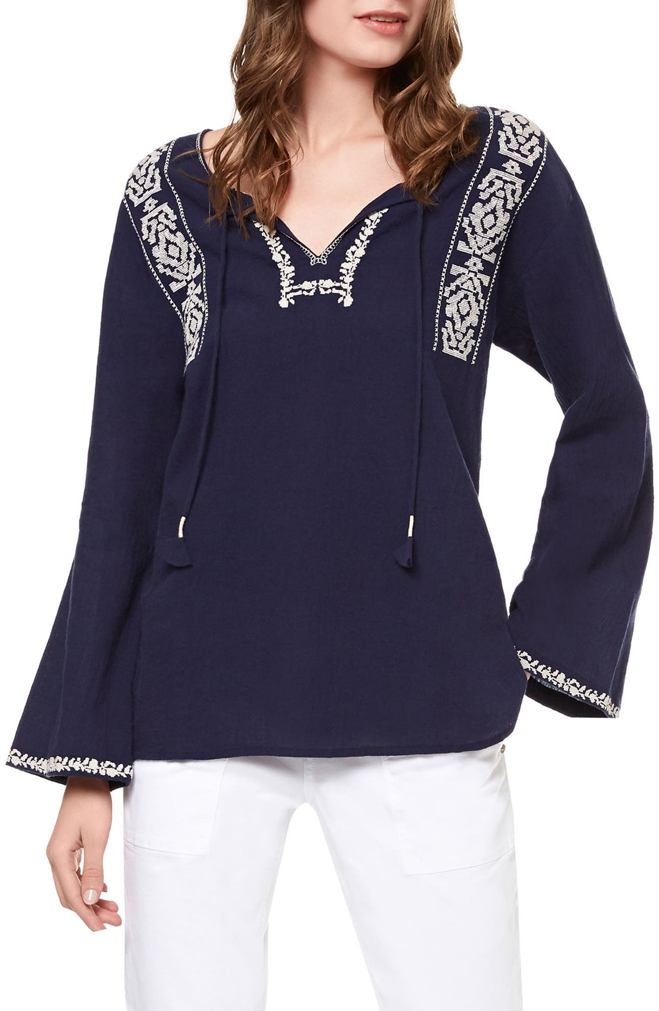 Alternate Image 1 Selected - Sanctuary Nova Embroidered Top