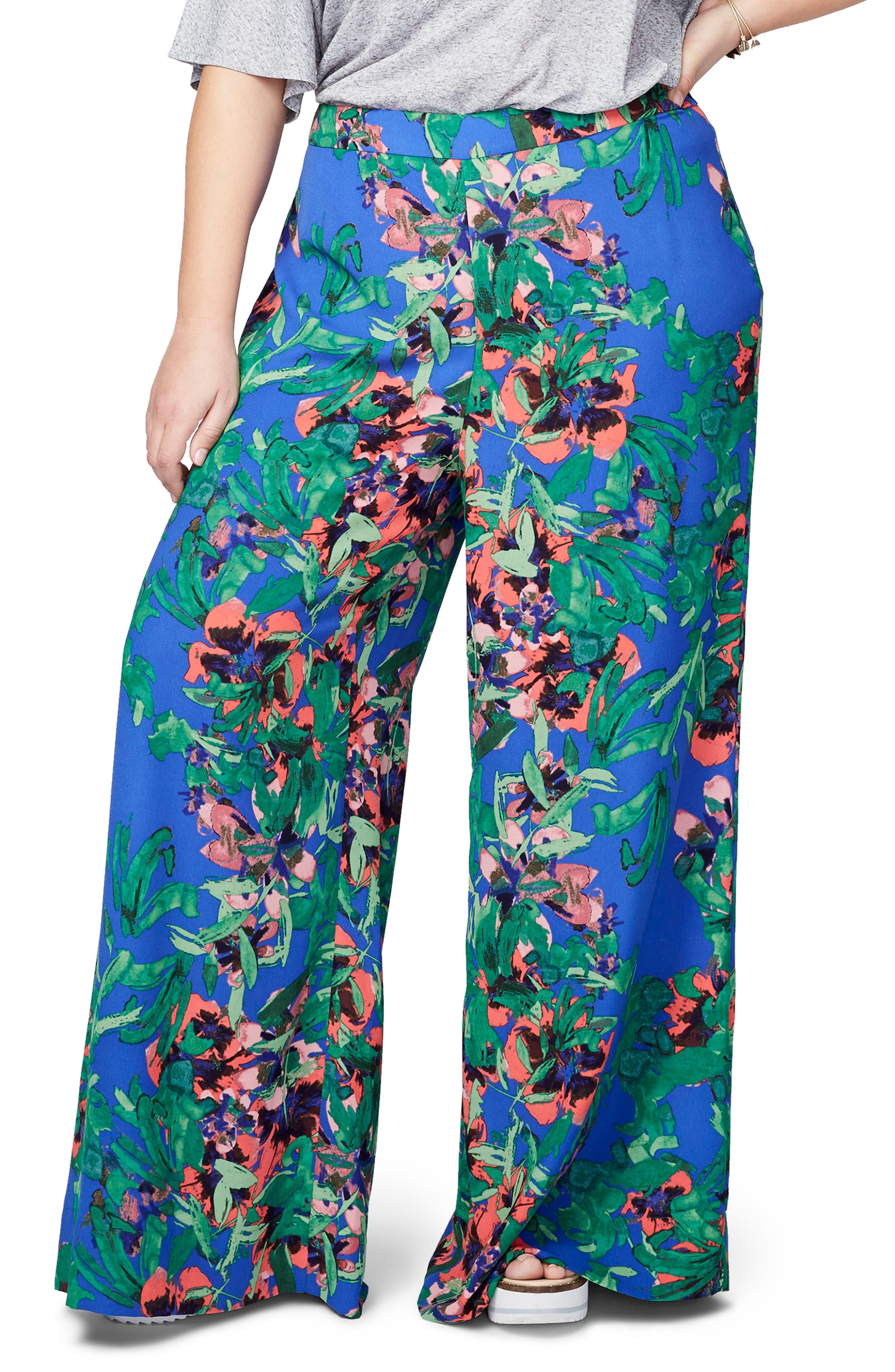 RACHEL Rachel Roy Print Palazzo Pants (Plus Size)