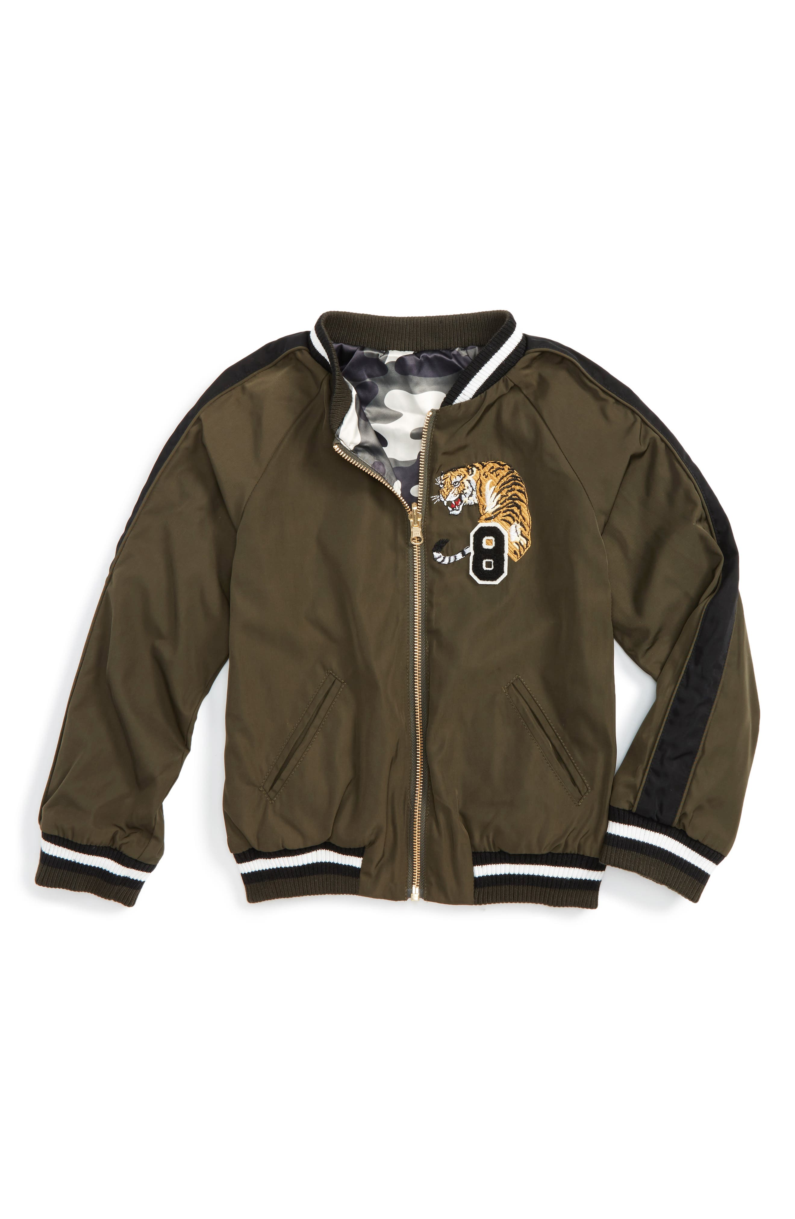 Bardot Junior Wildcat Bomber Jacket (Baby Boys & Toddler Boys)