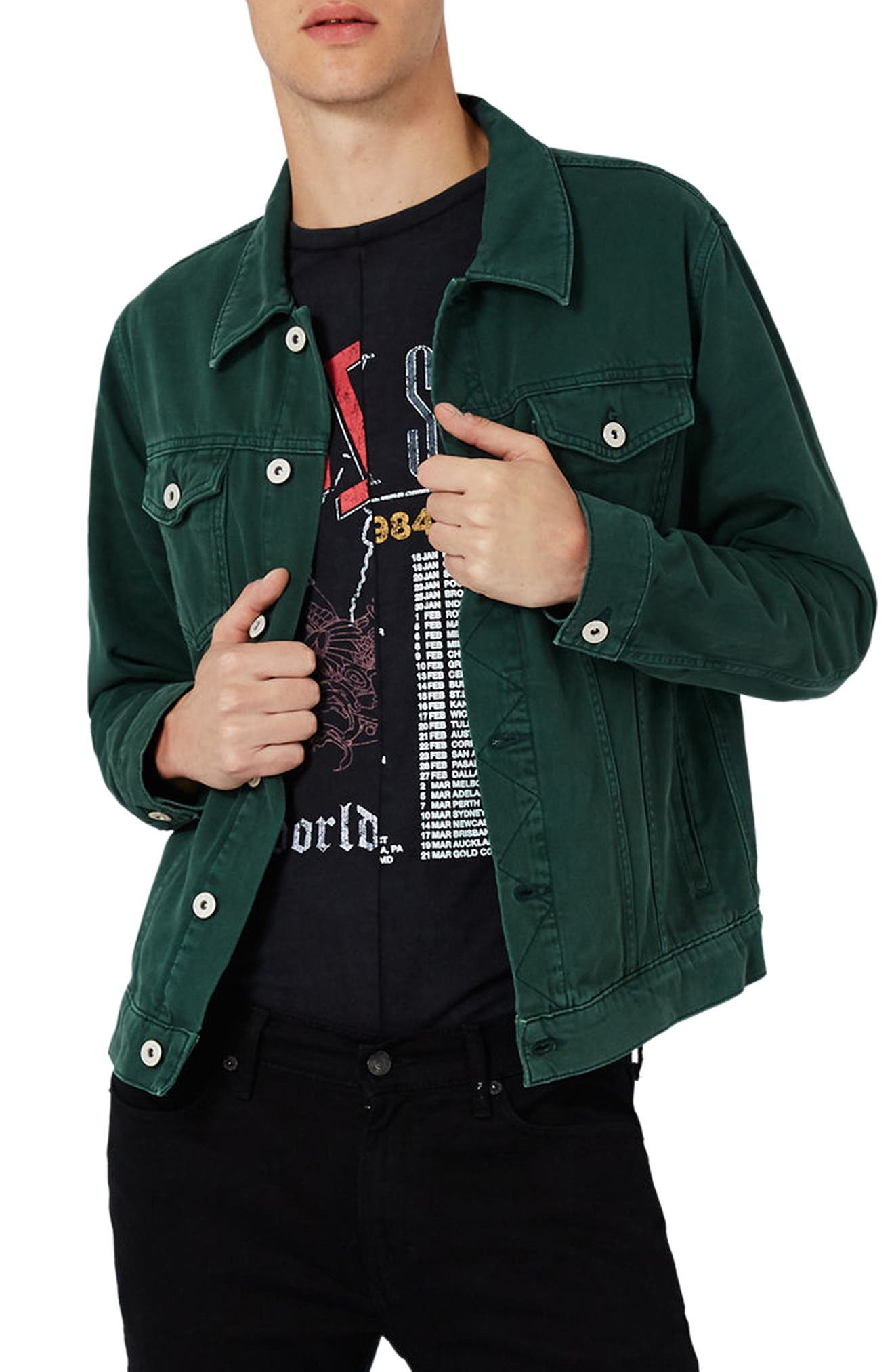 Topman Washed Western Denim Jacket