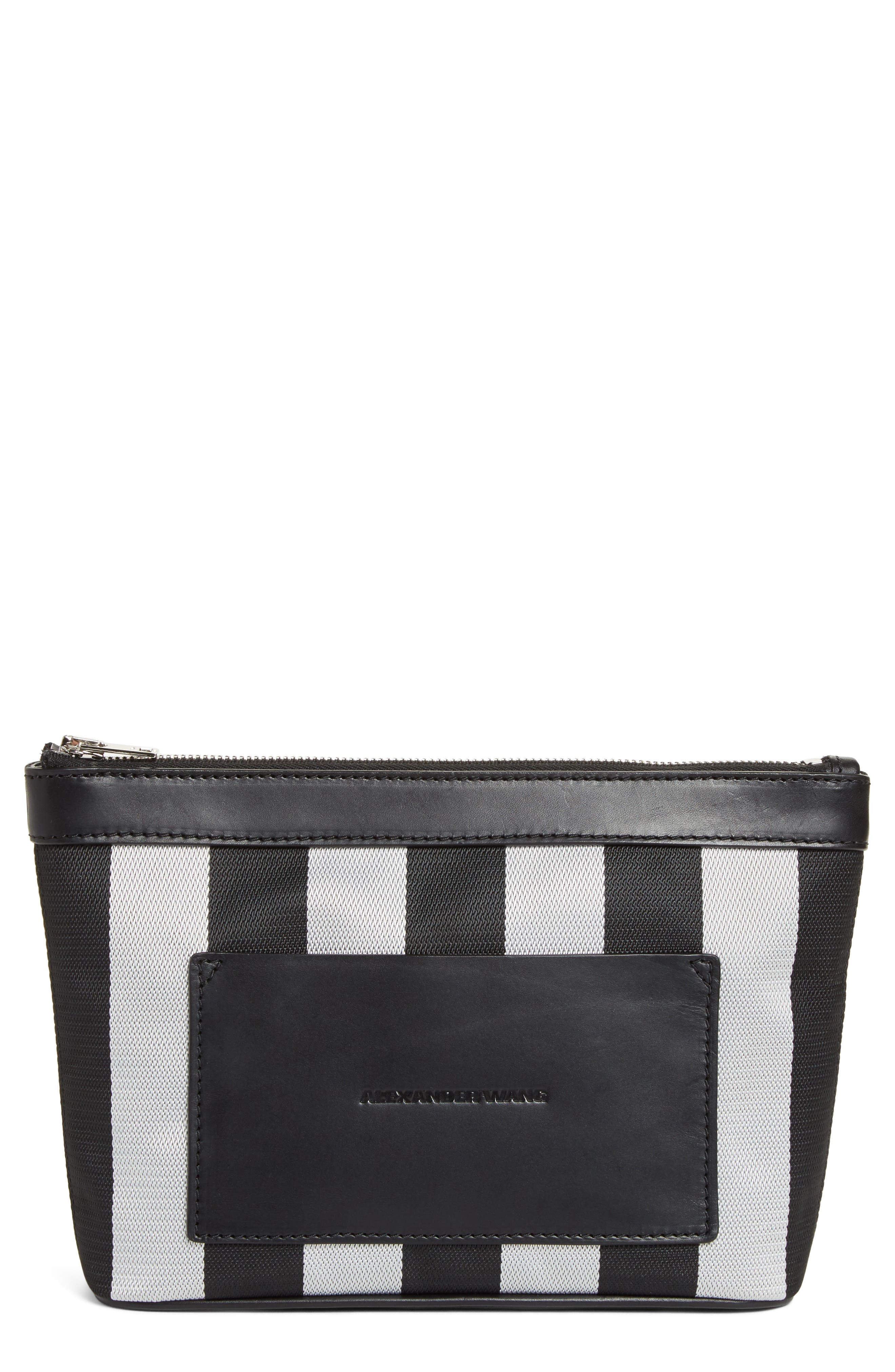 Alexander Wang Small Canvas Zip-Up Pouch